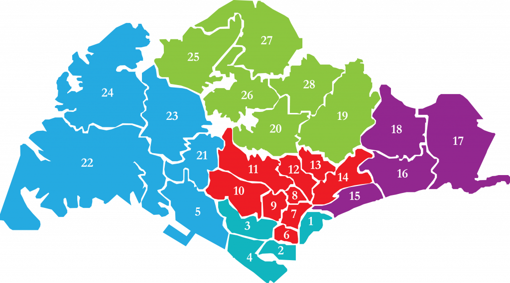 singapore districts