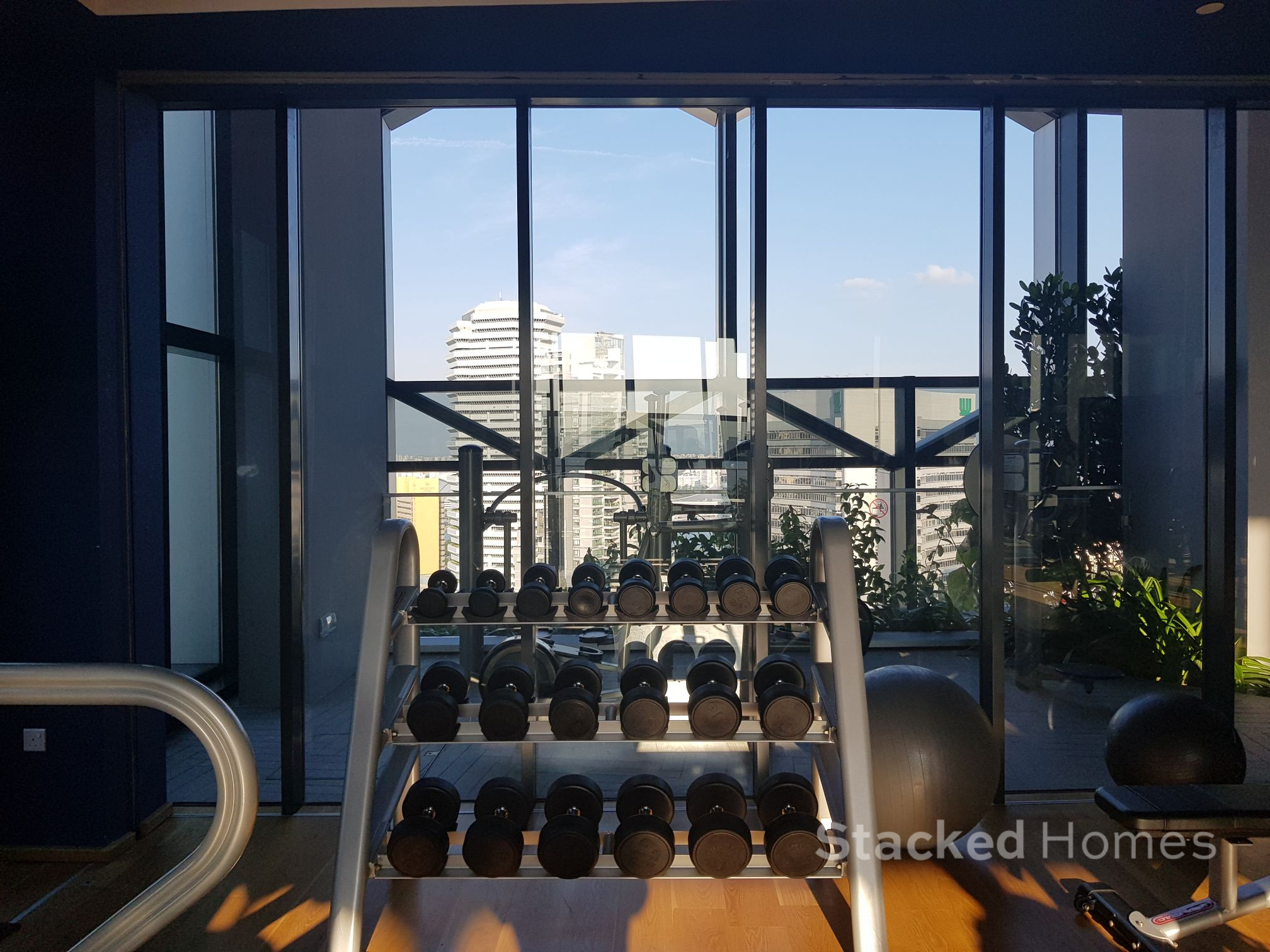 Duo Residences gym view