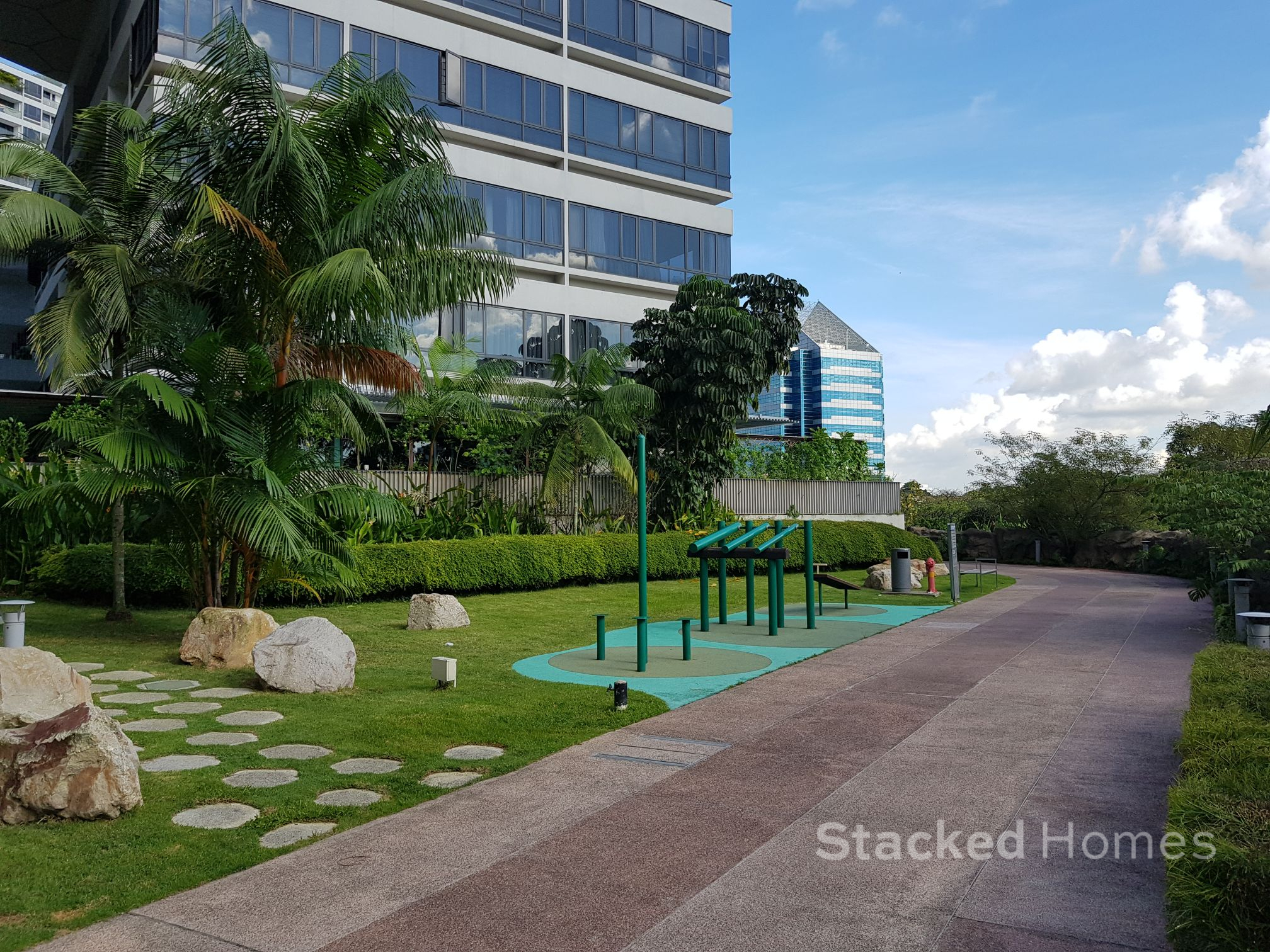 the interlace condo fitness corner