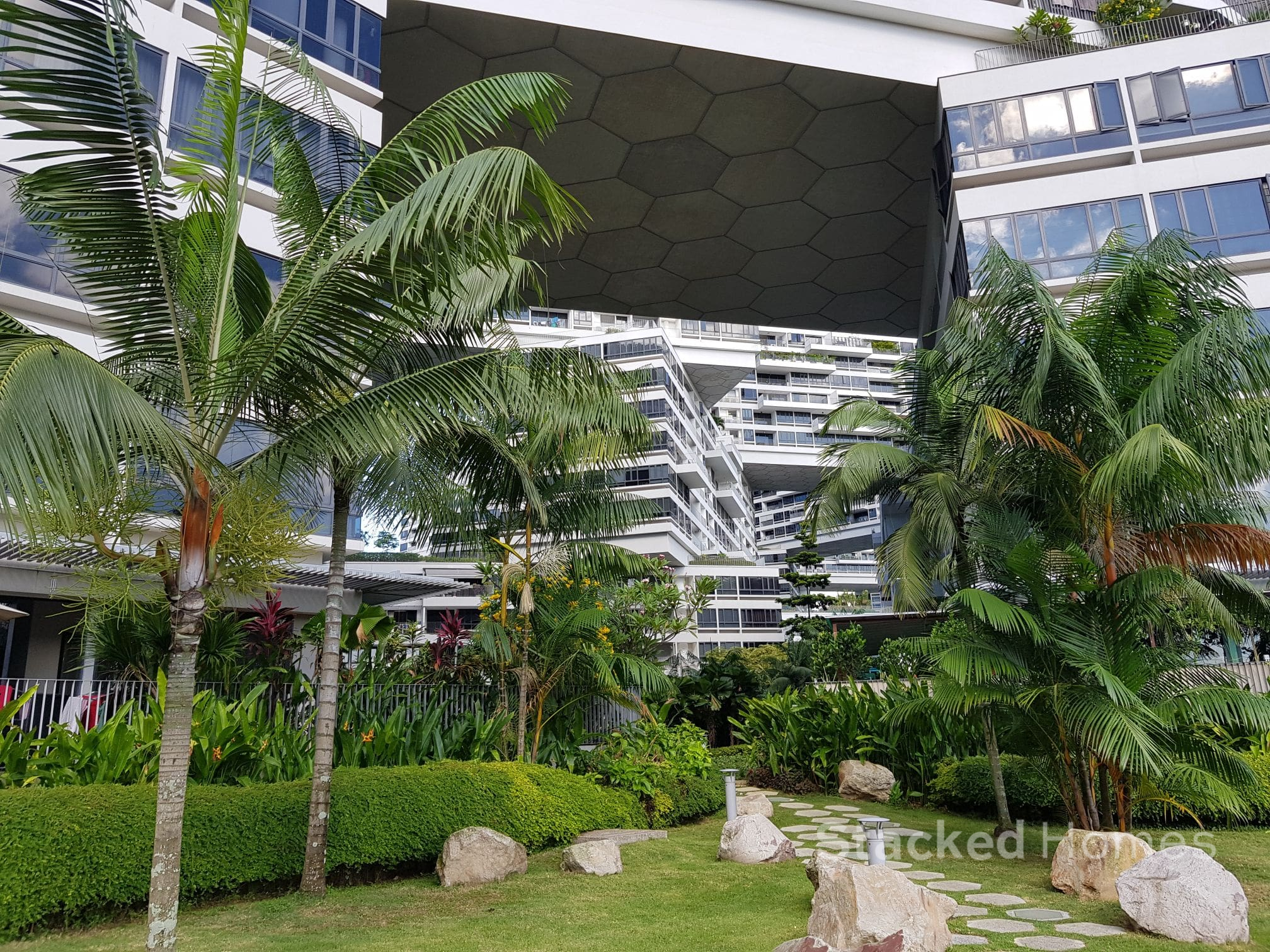 the interlace condo garden