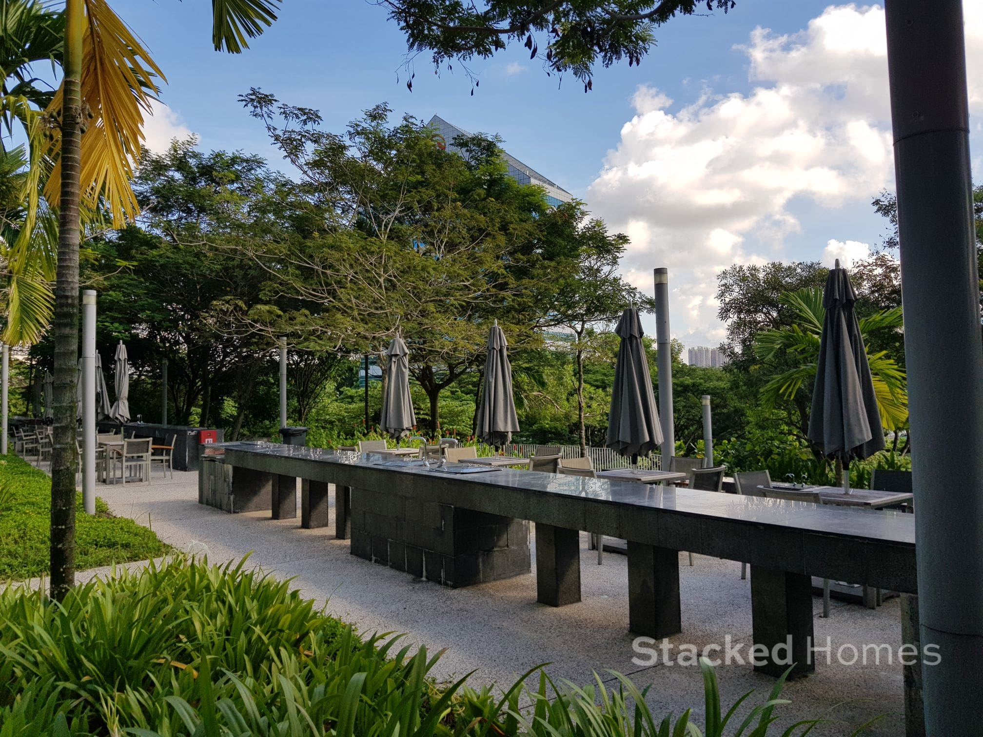 the interlace barbeque area