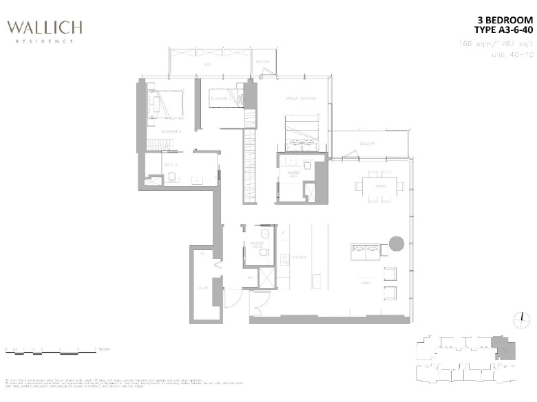 wallich residence 3 bedroom layout