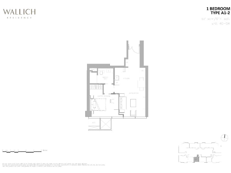 wallich residence 1 bedroom floor plan