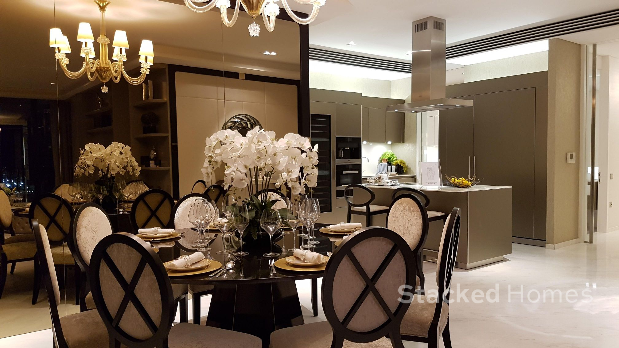 south beach residences dining area