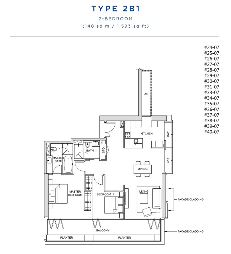 south beach residences 2 bedroom