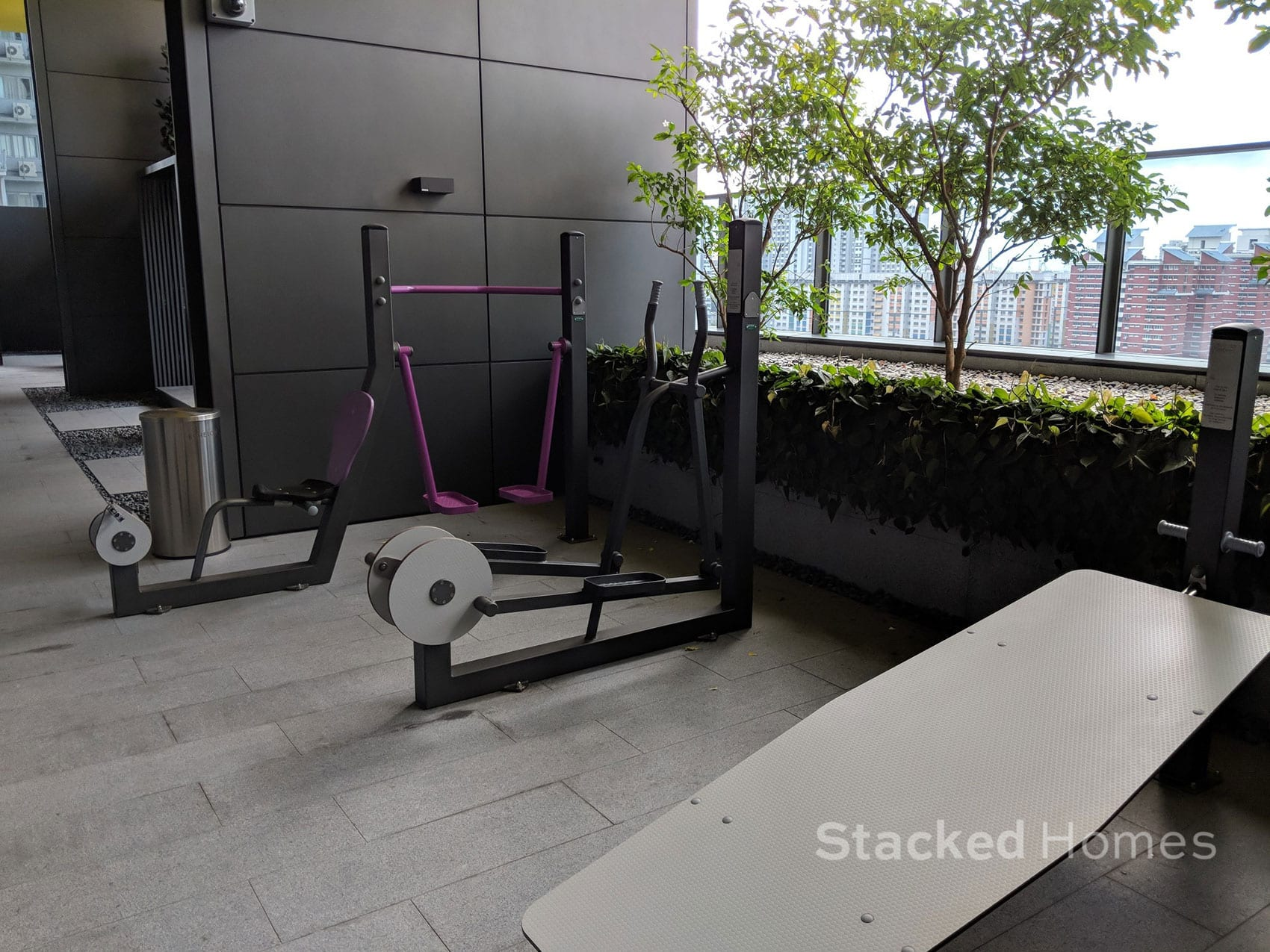 echelon condo outdoor gym