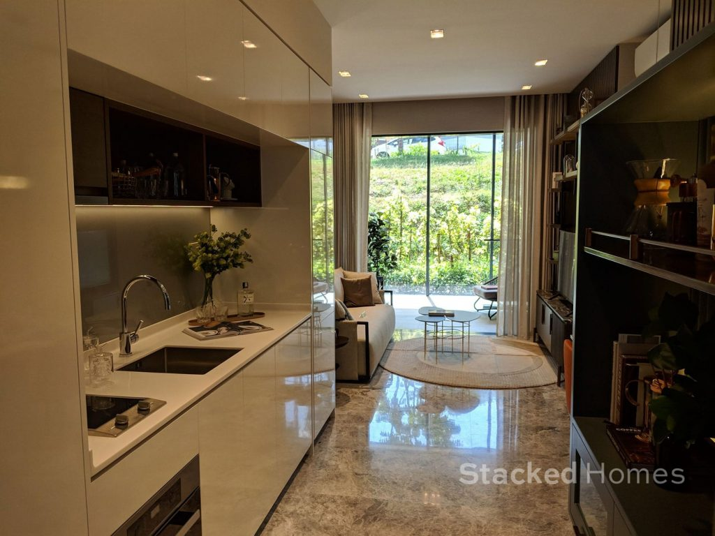 fourth avenue residences 2 bedroom kitchen