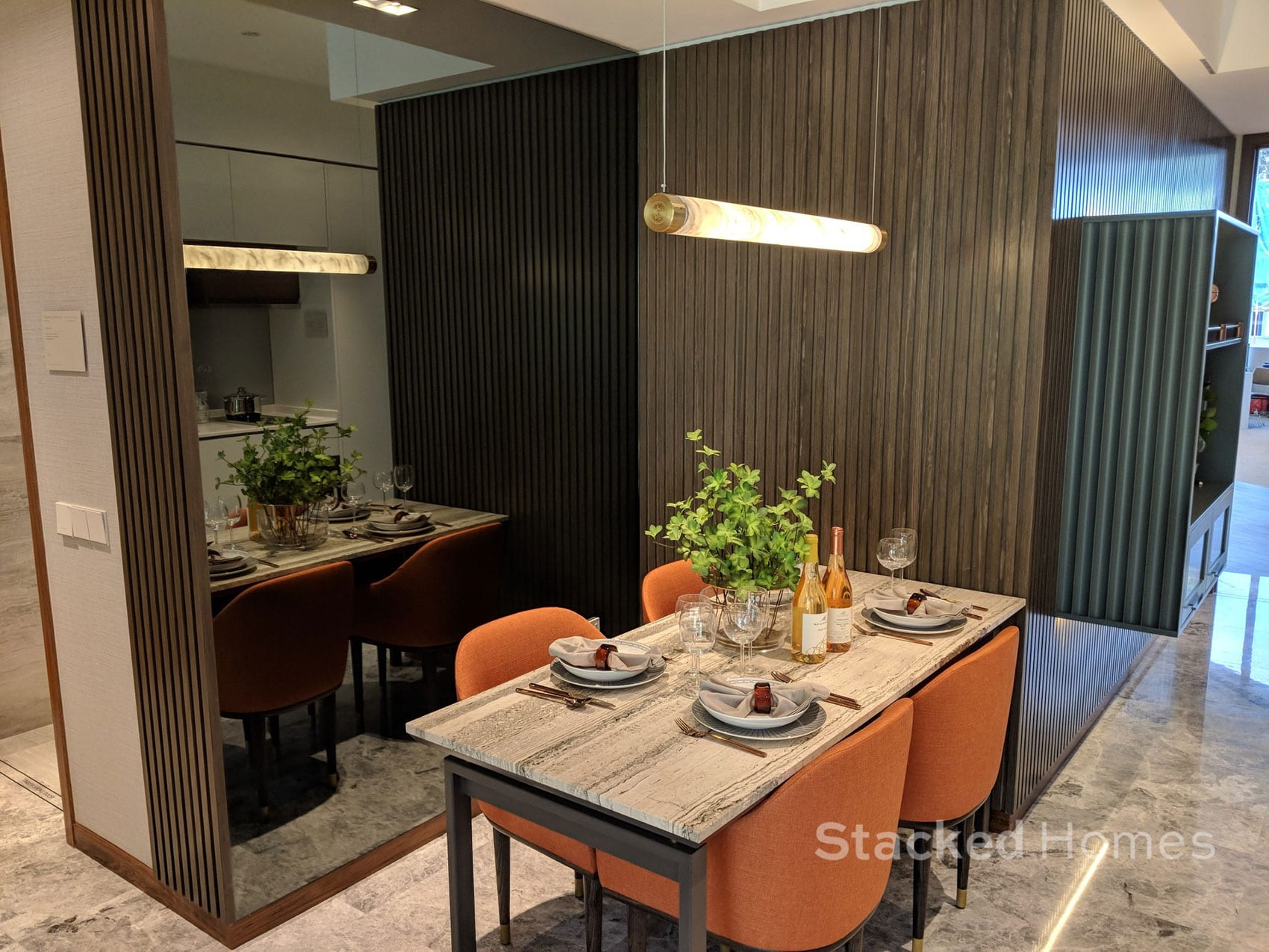 fourth avenue residences 2 bedroom dining area