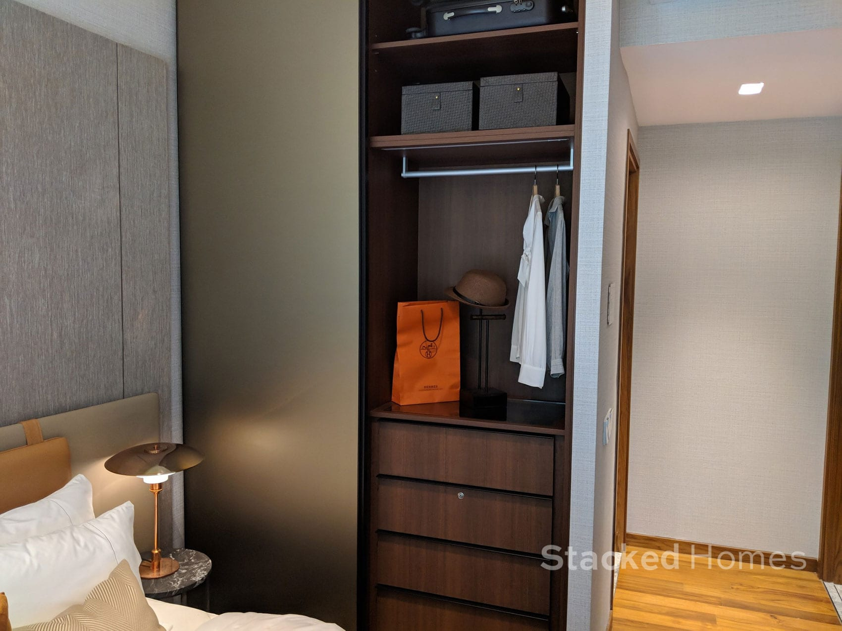 fourth avenue residences 2 bedroom master cupboard