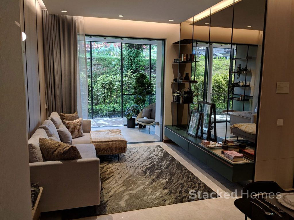 fourth avenue residences 3 bedroom living area