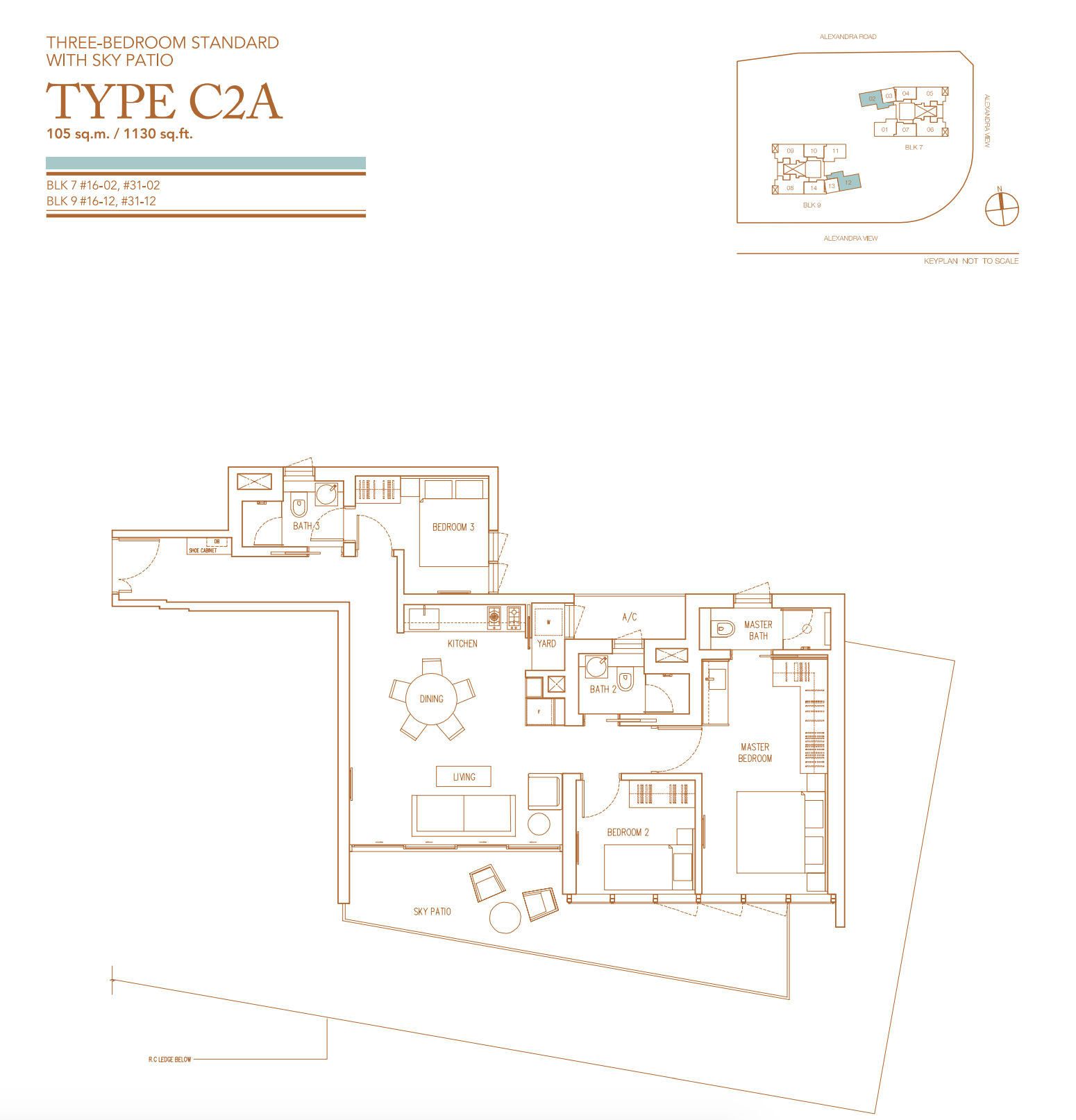 echelon condo 3 bedroom layout