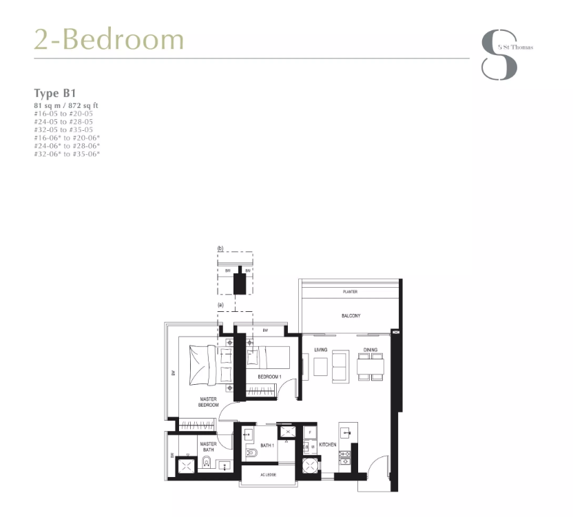 8 st thomas 2 bedroom floorplan