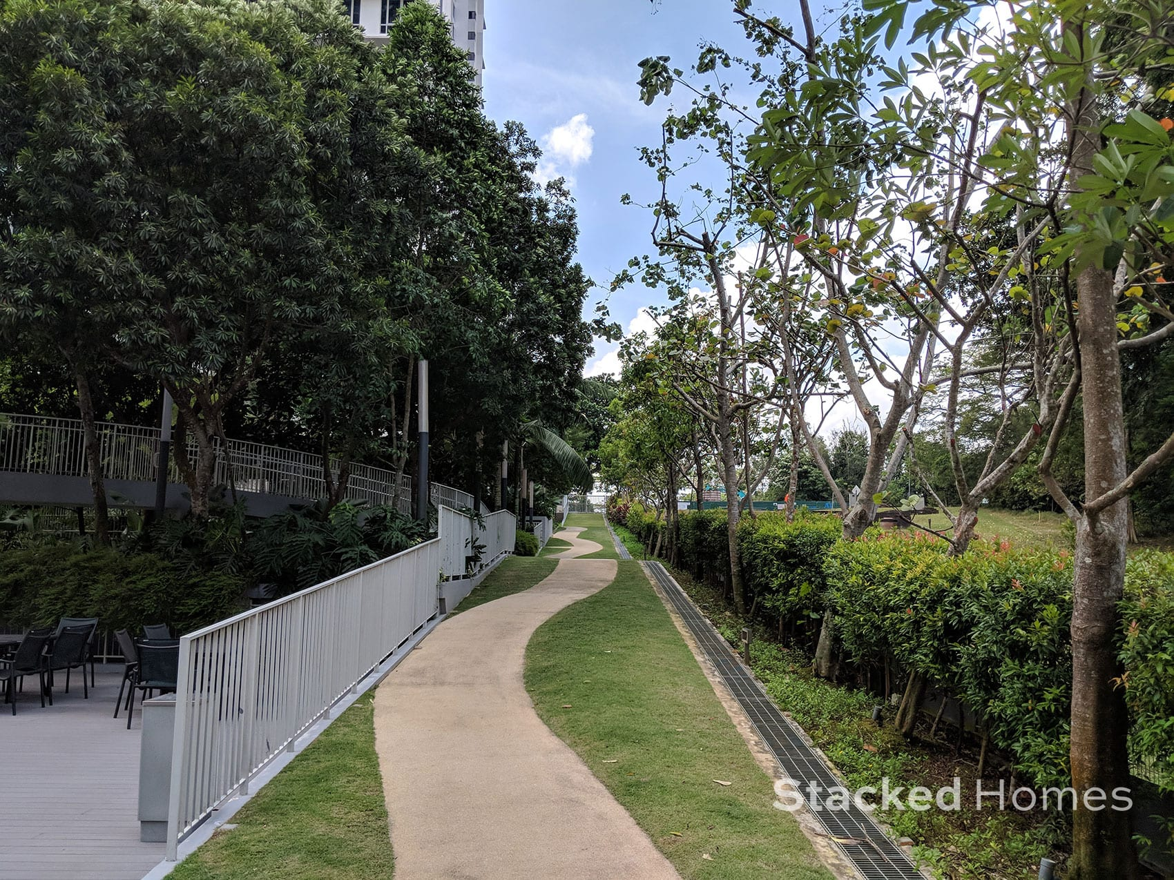 tree house condo jogging track