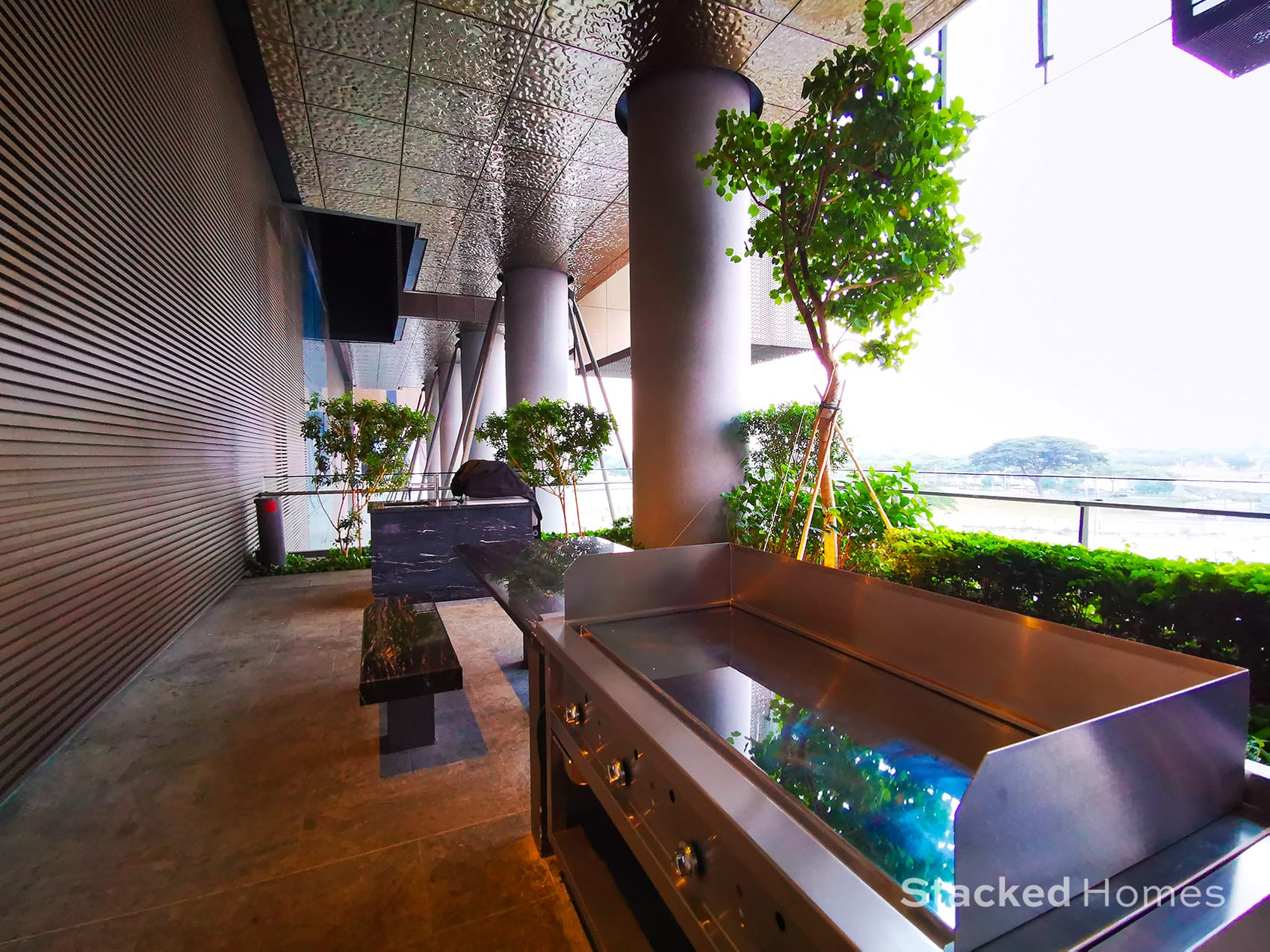 marina one residences outdoor grill