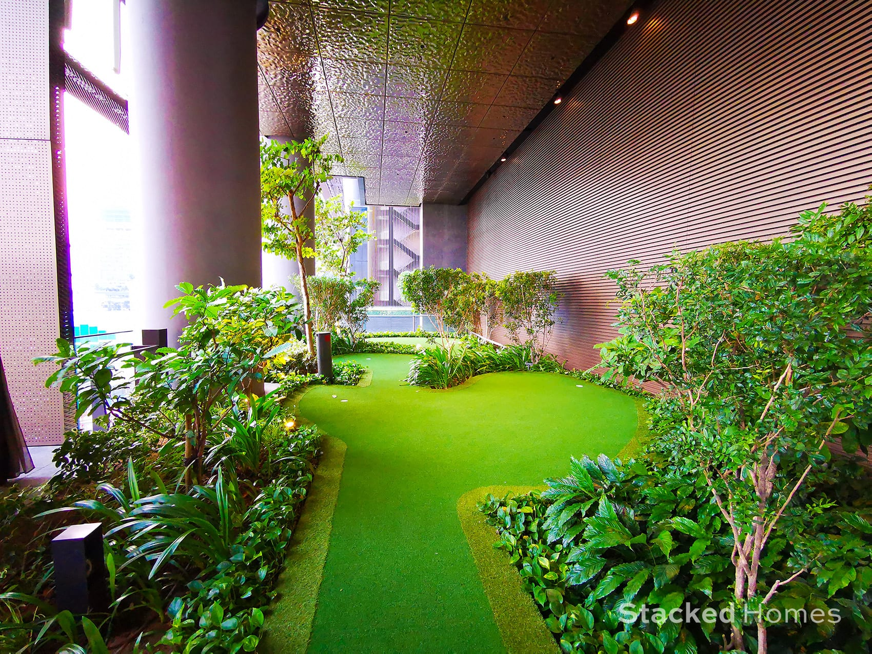 marina one residences putting green