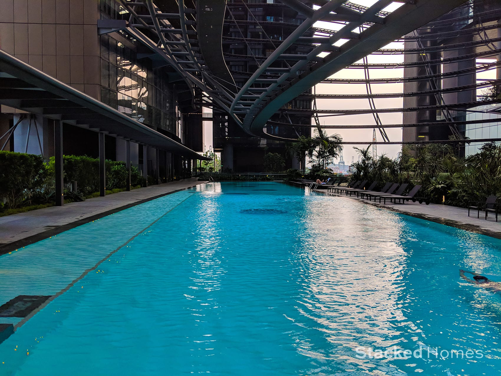 marina one residences swimming lap pool