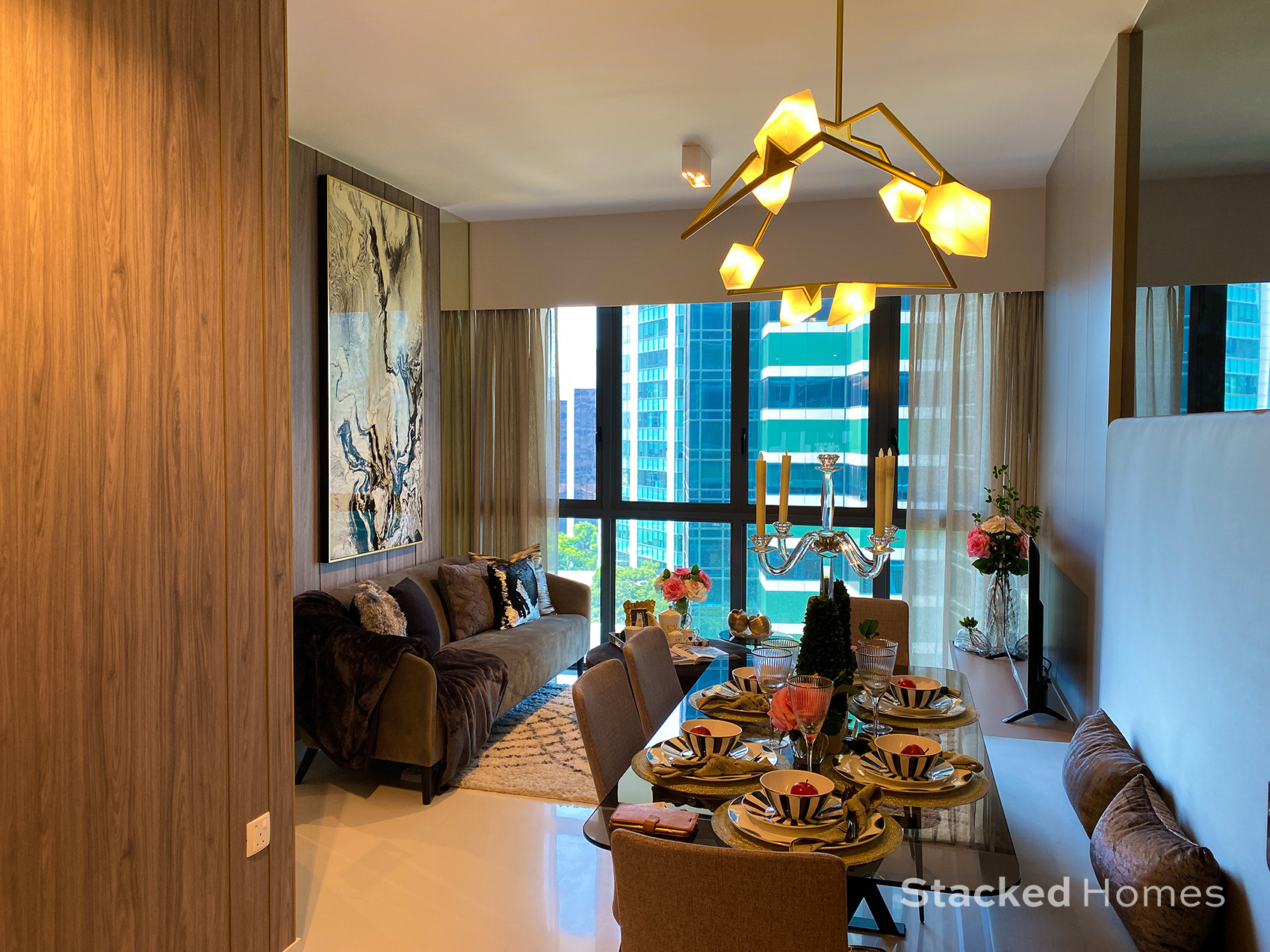 onze tanjong pagar 3 bedroom living and dining