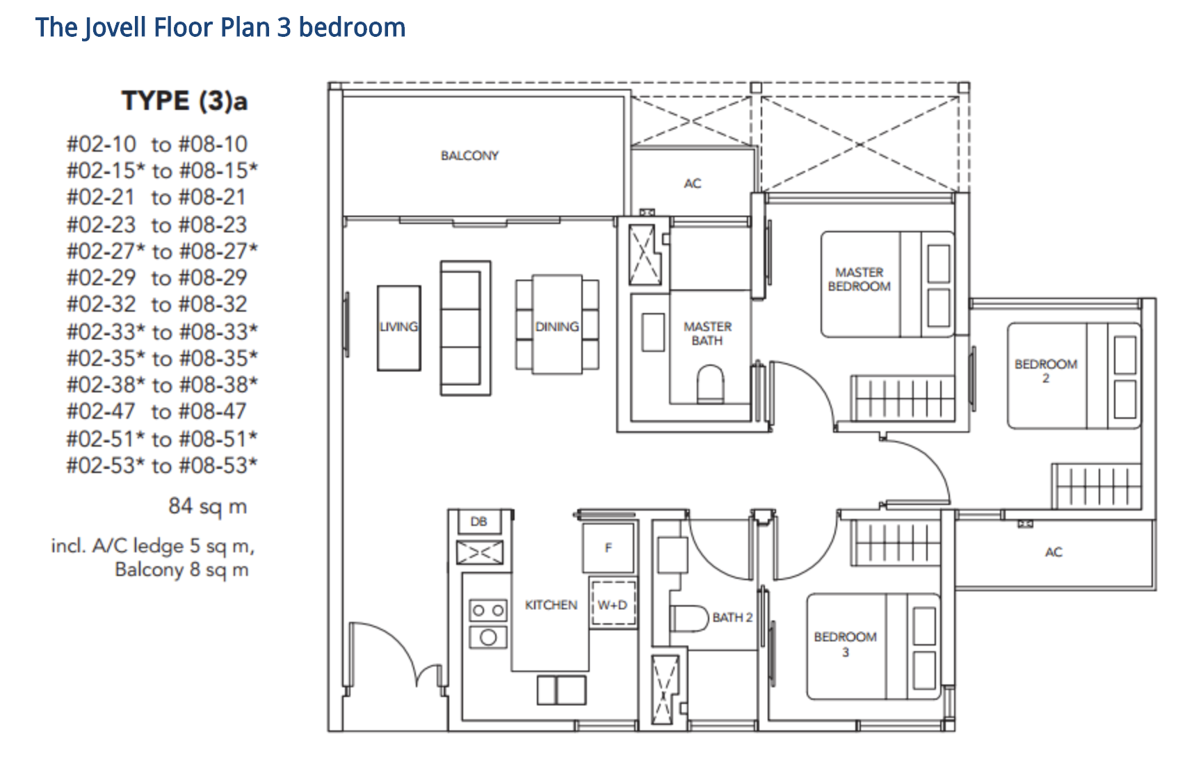 jovell 3 bedroom floorplan