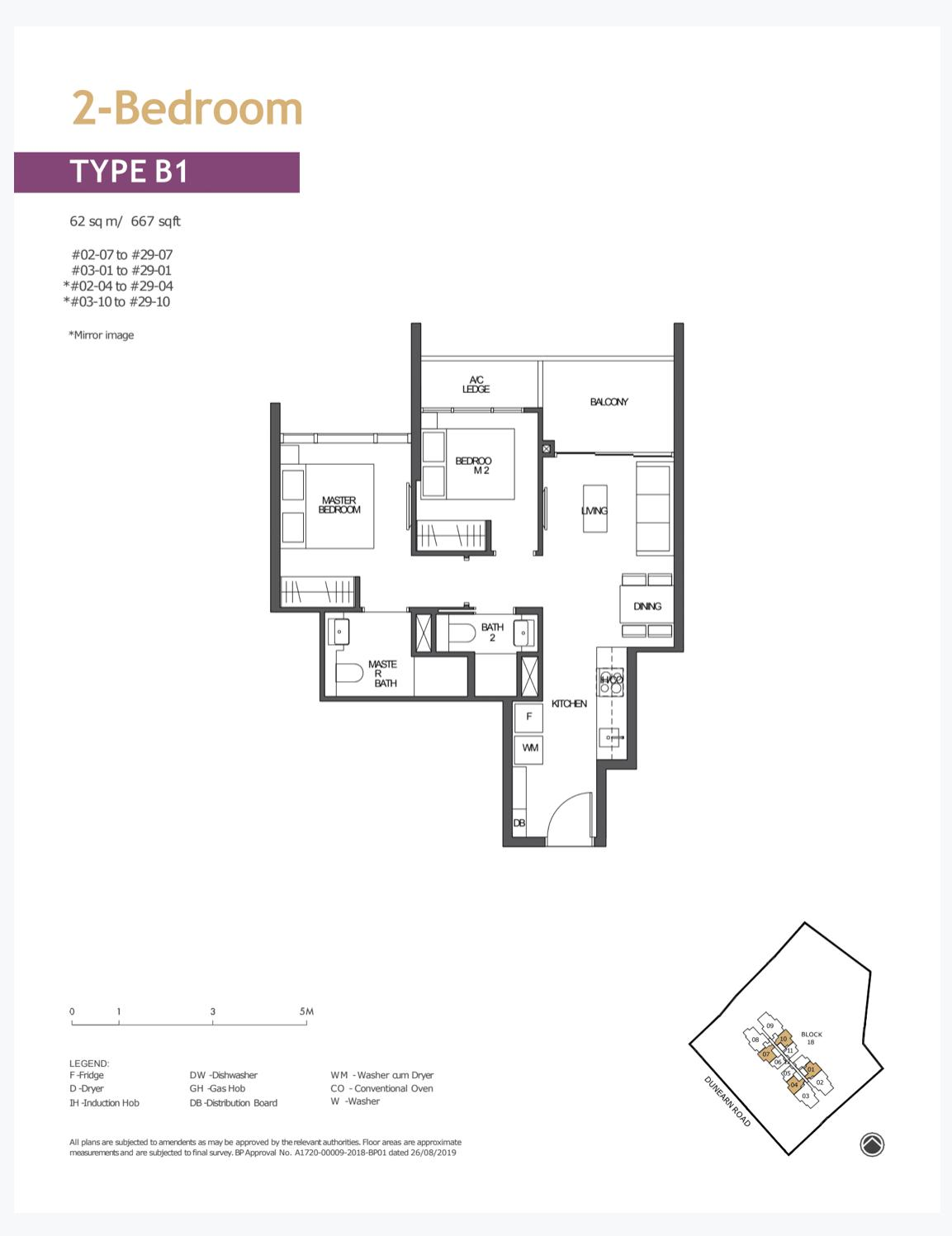 pullman residence 2 bedroom floorplan