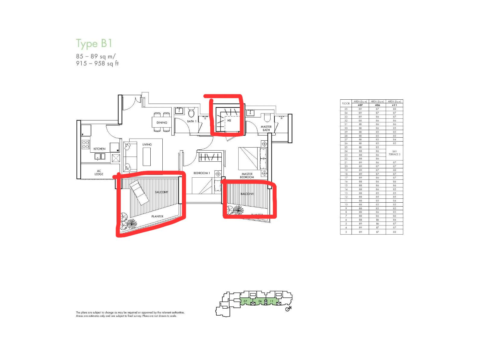 spottiswoode residences floorplan