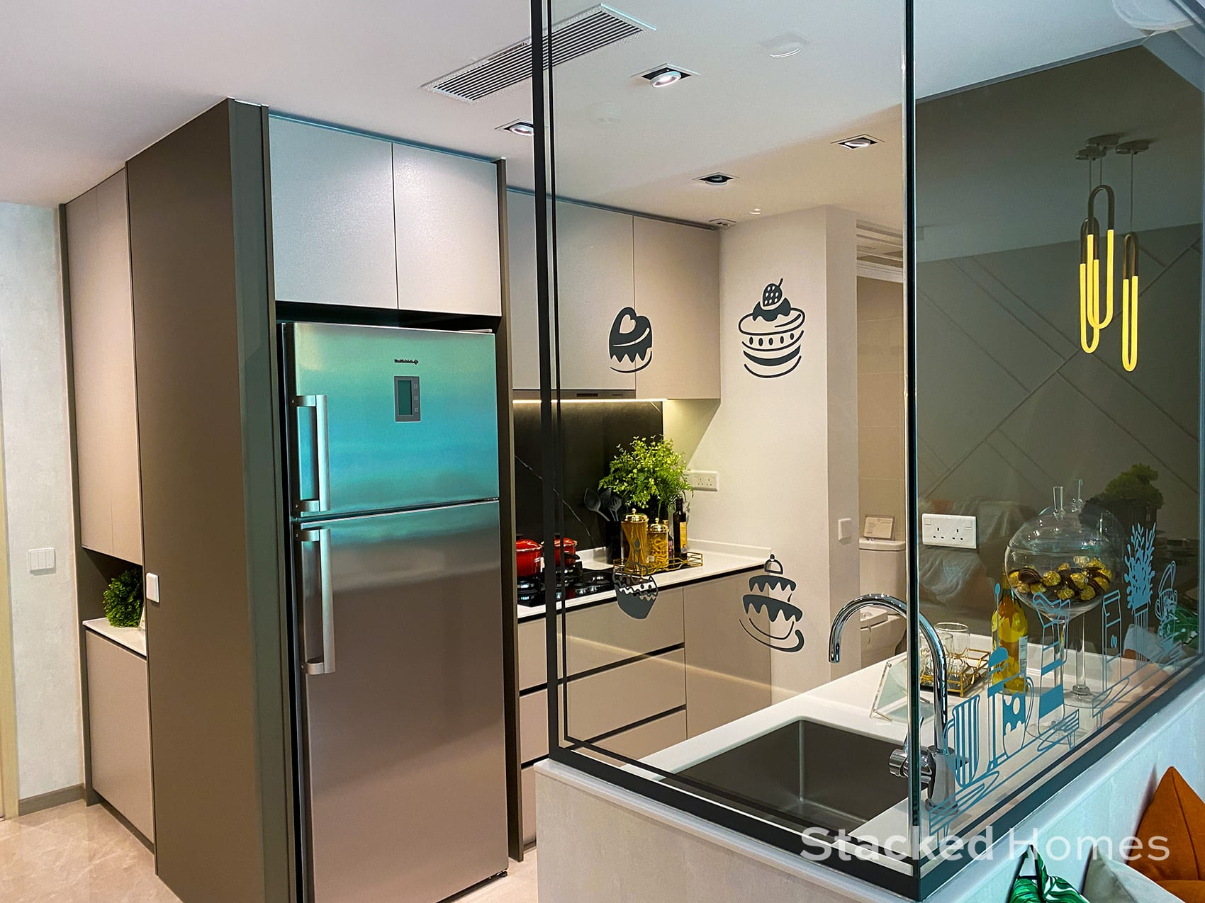 Sengkang Grand Residences 3 Bedroom Premium kitchen view