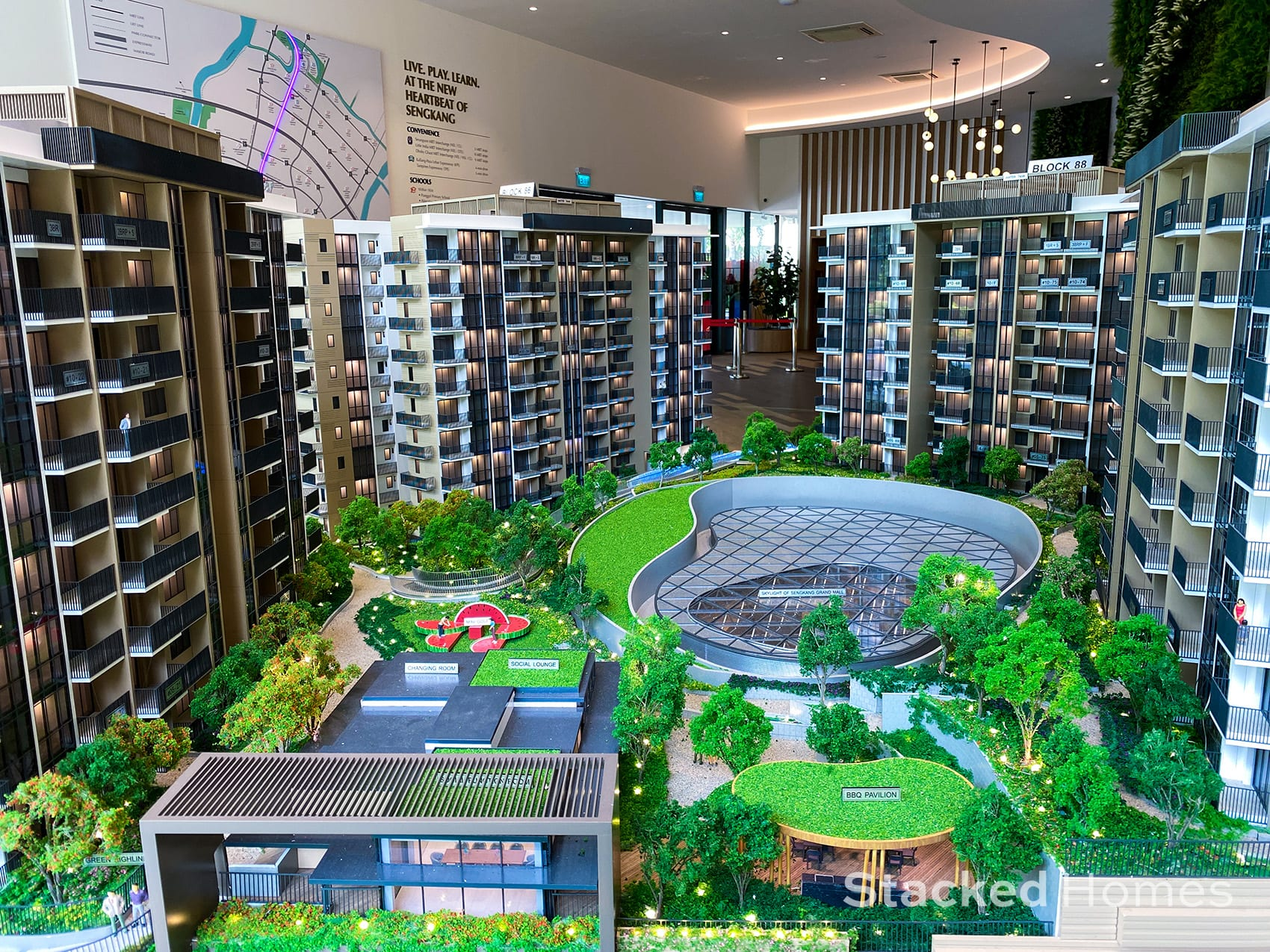 Sengkang grand residences spotlight mall