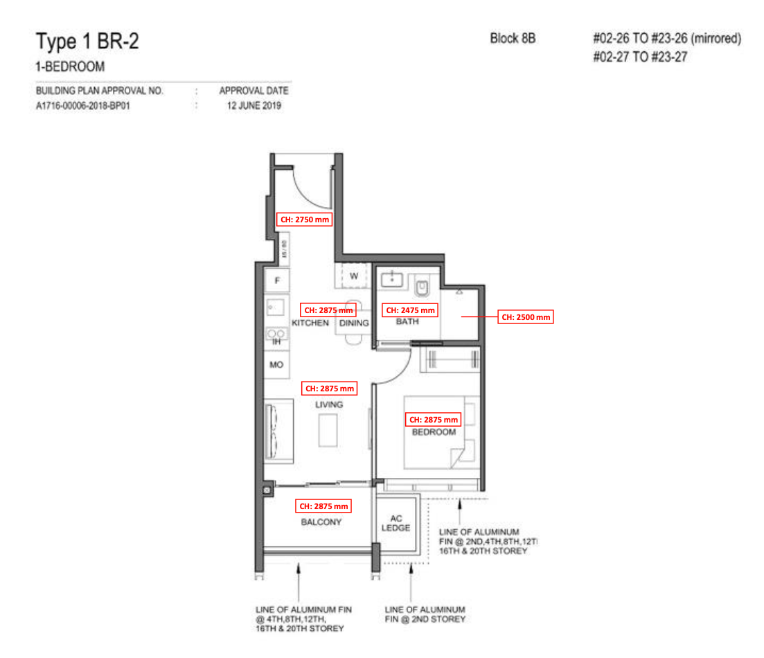 parc clematis 1 bedroom floor plan