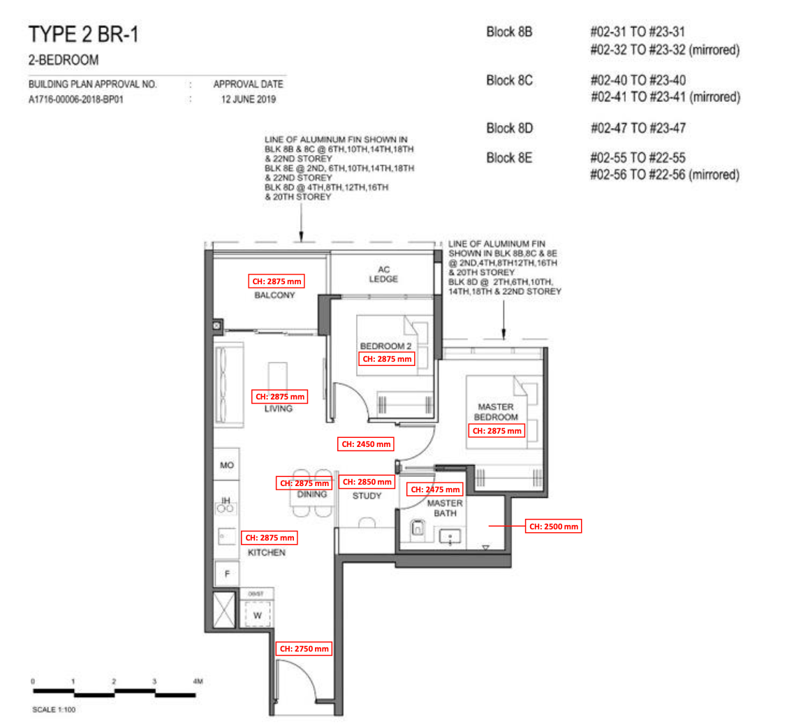 parc clematis 2 bedroom plus study floor plan