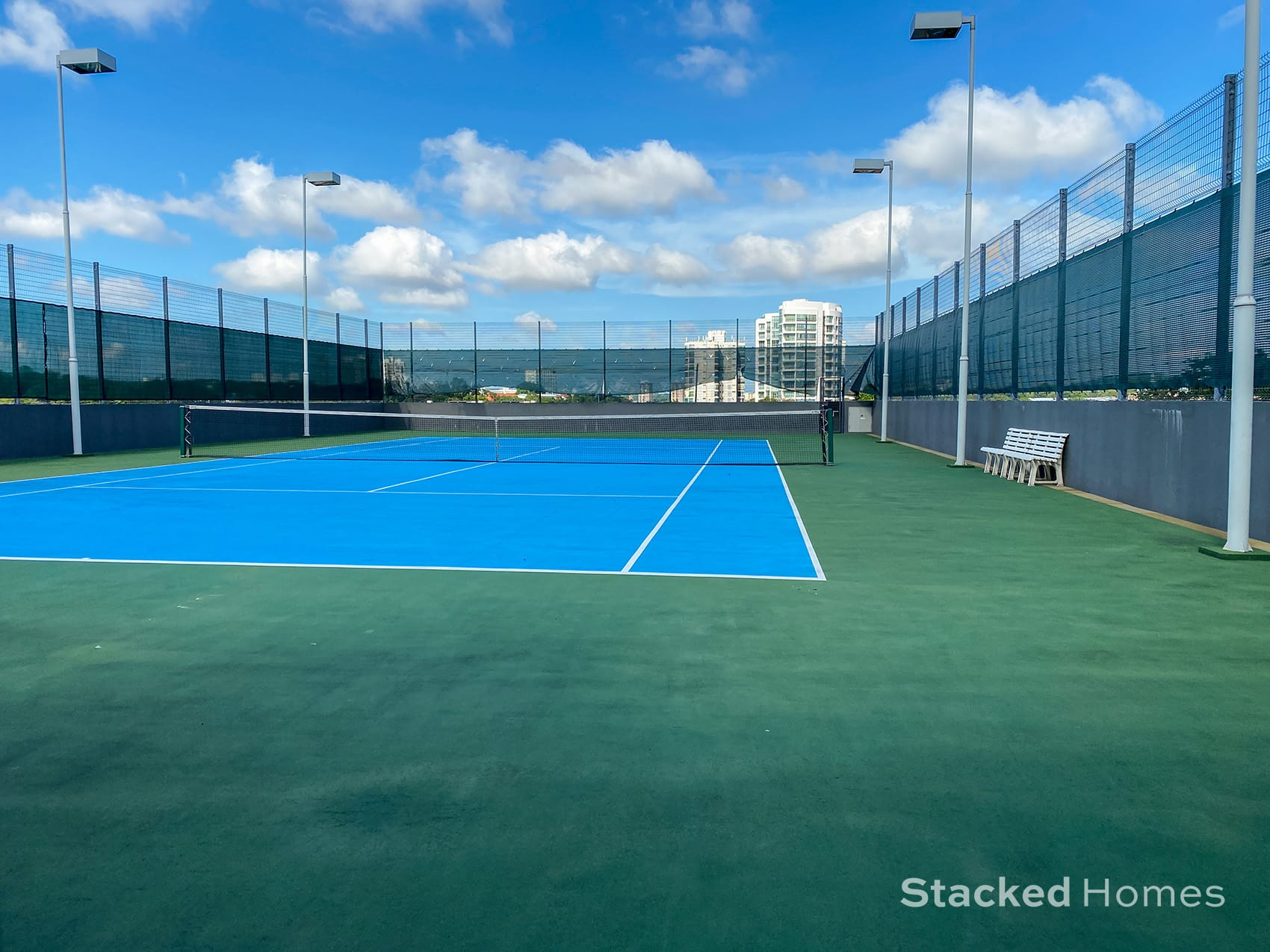 Robing residences tennis court