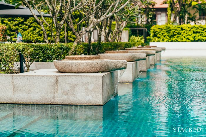 Leedon residence water feature