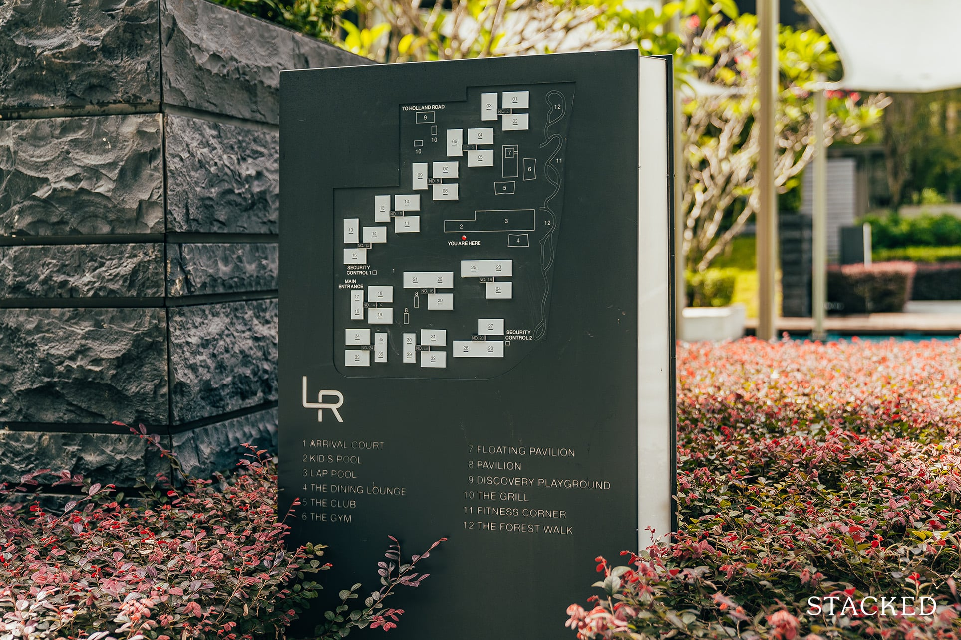 leedon residence sign