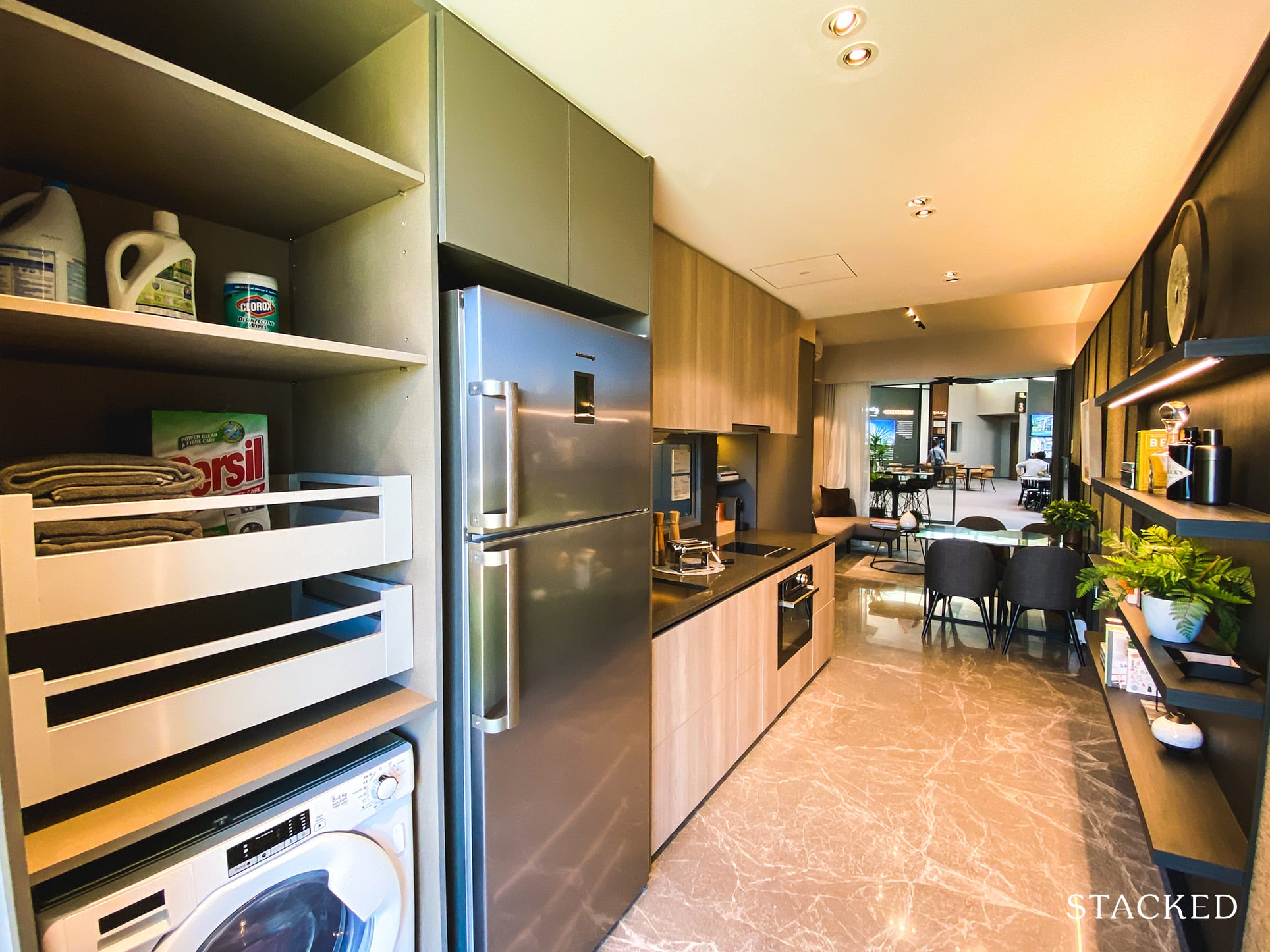 one holland village residences 2 bedroom kitchen storage