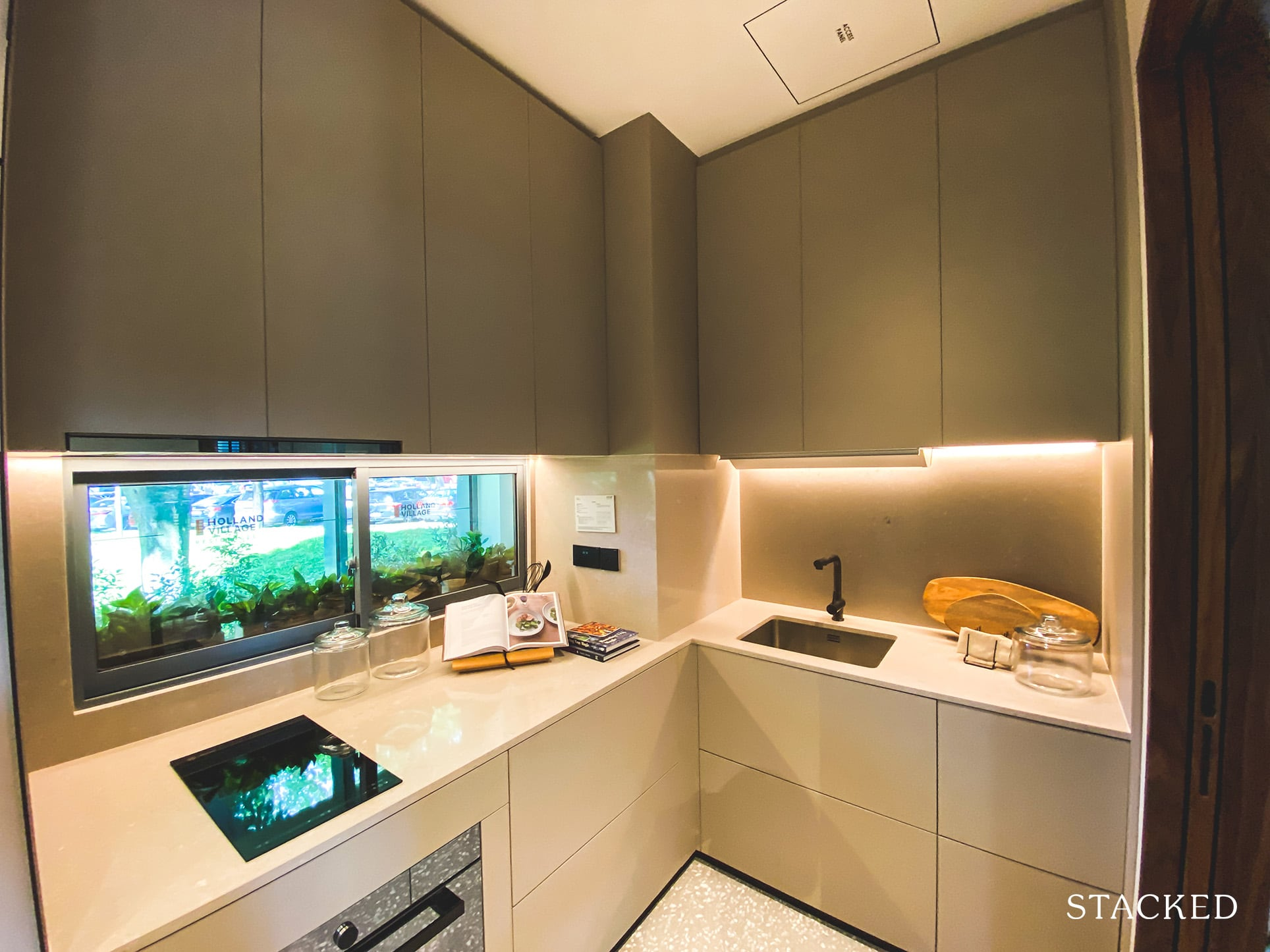 one holland village residences 2 bedroom leven kitchen