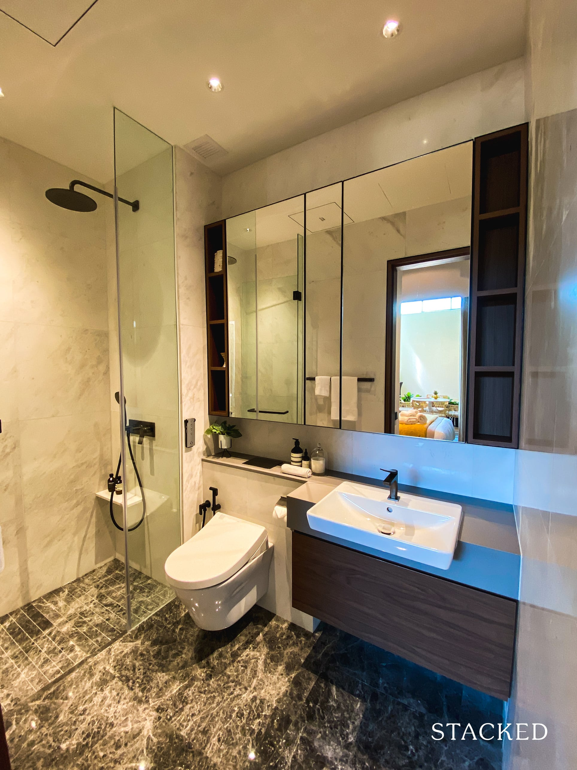 one holland village residences 2 bedroom leven master bathroom