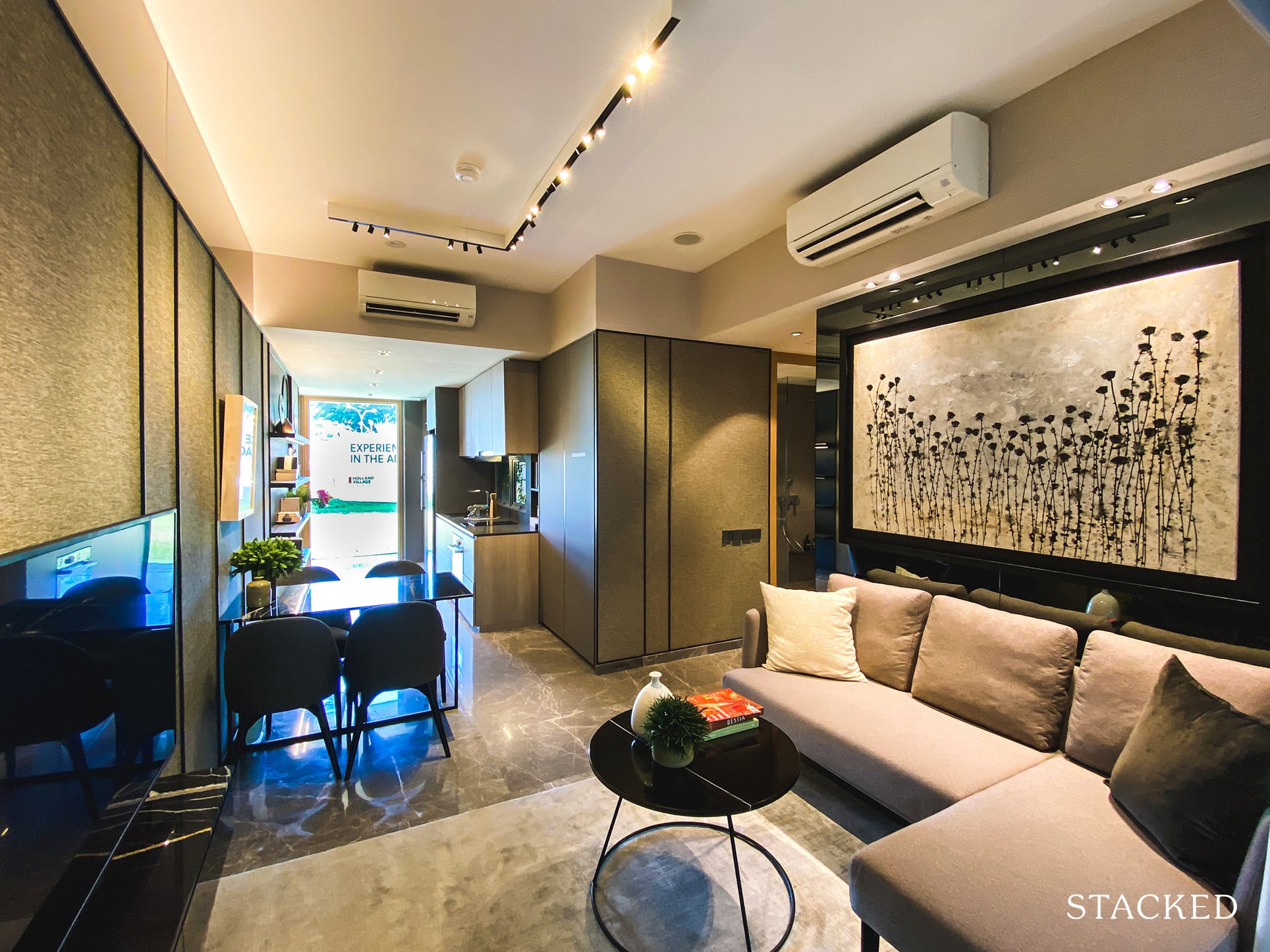 one holland village residences 2 bedroom living