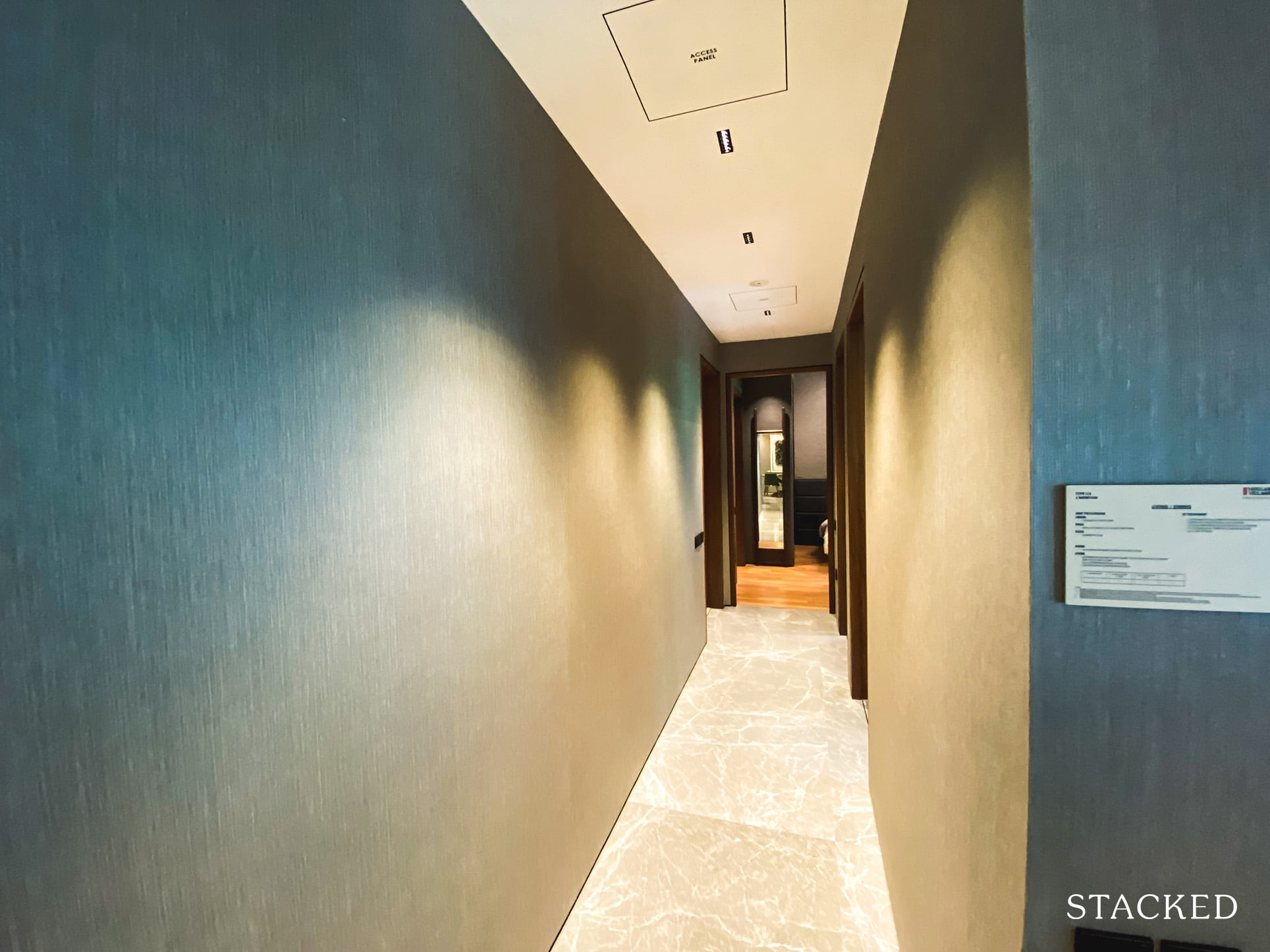 one holland village residences 3 bedroom hallway
