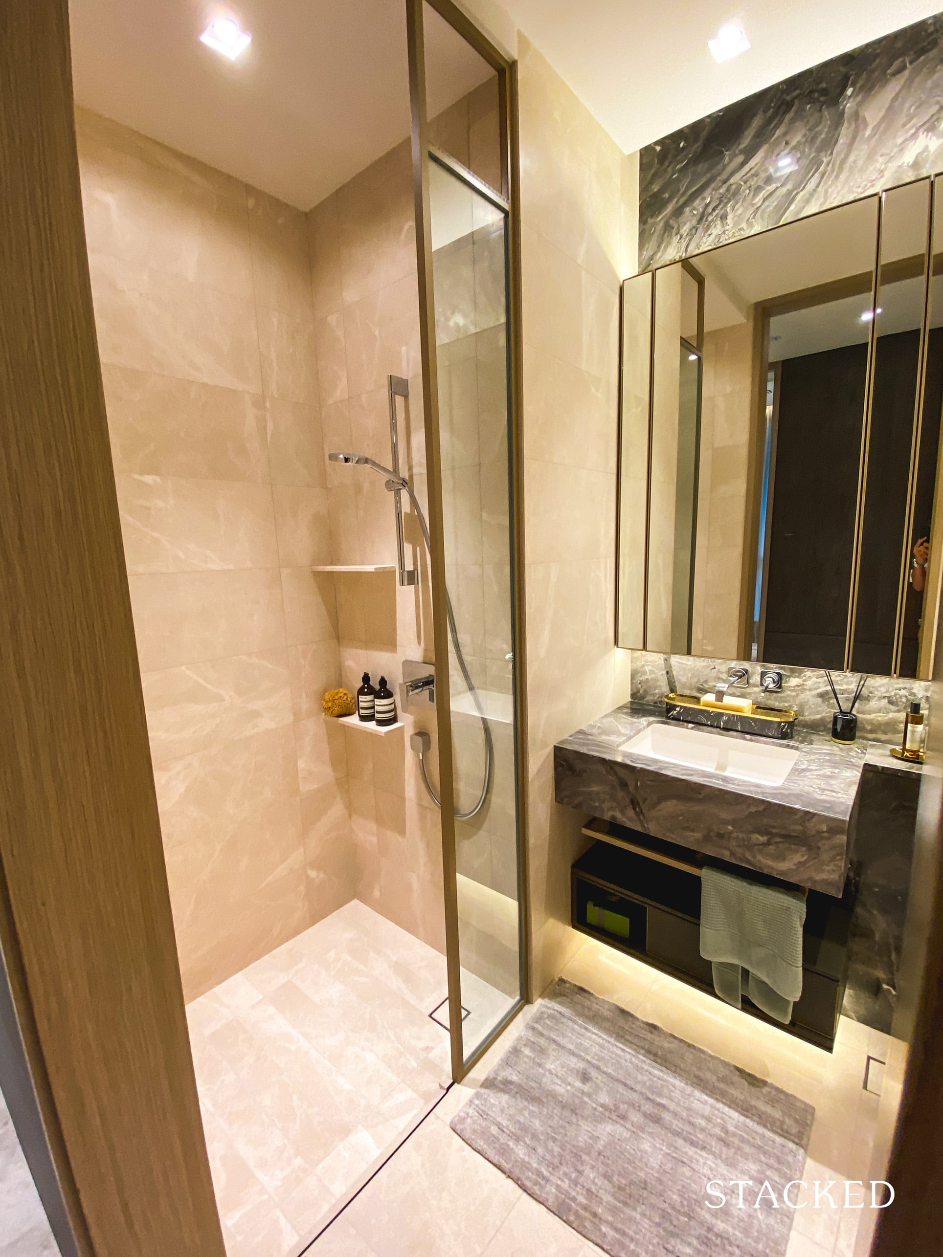 the avenir 2 bedroom common bathroom