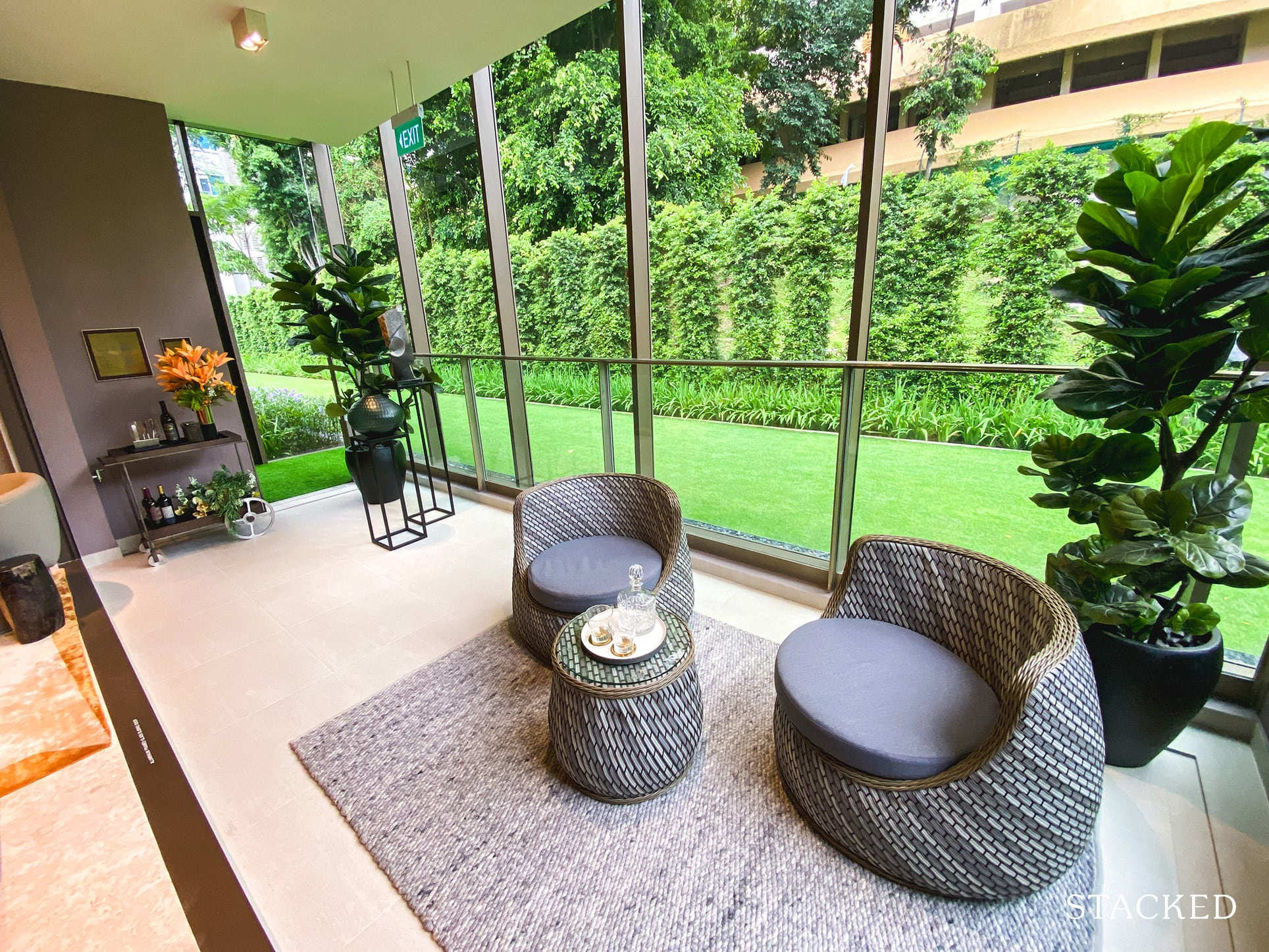 the avenir 3 bedroom balcony