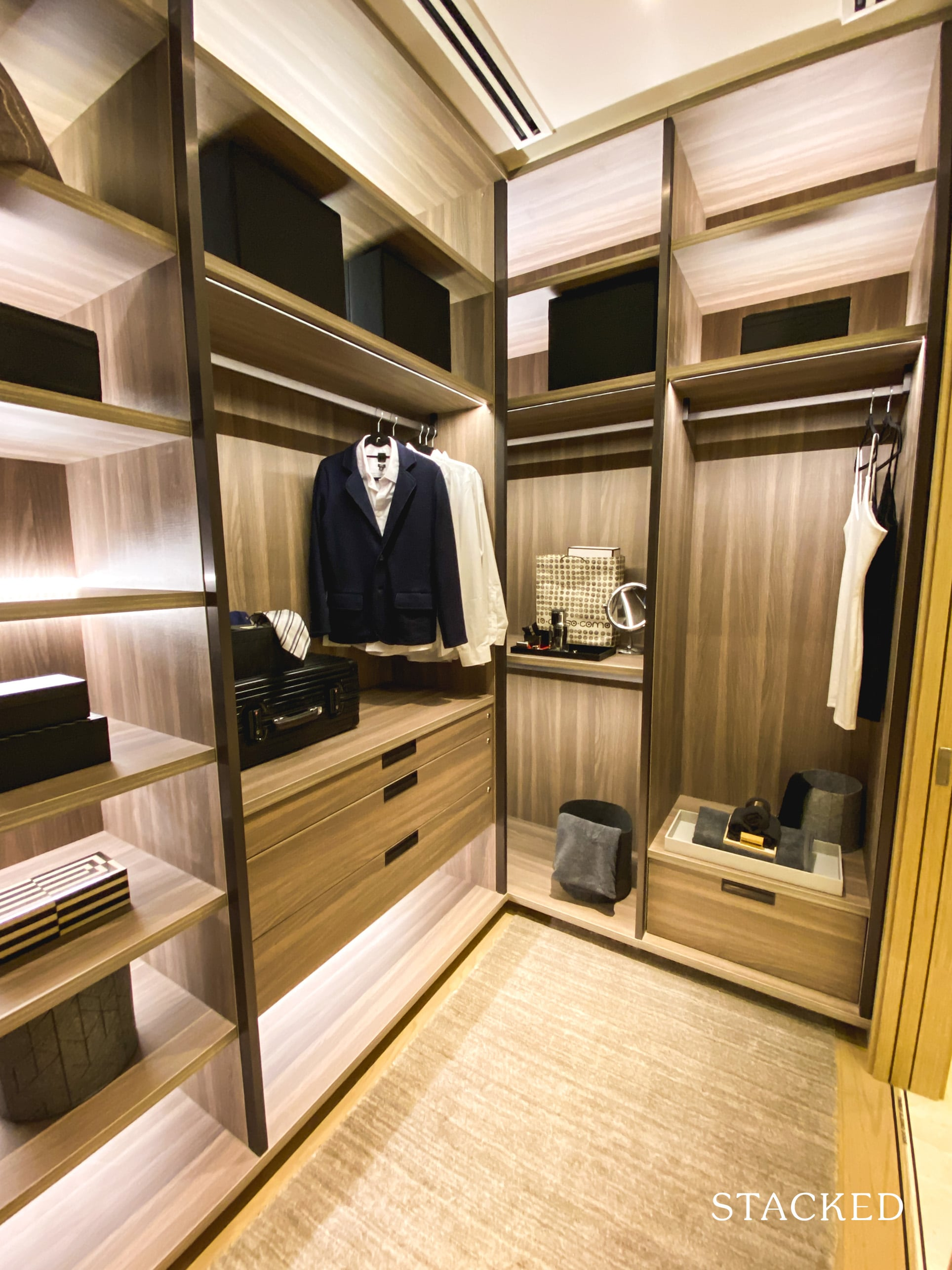 the avenir 3 bedroom walk in wardrobe