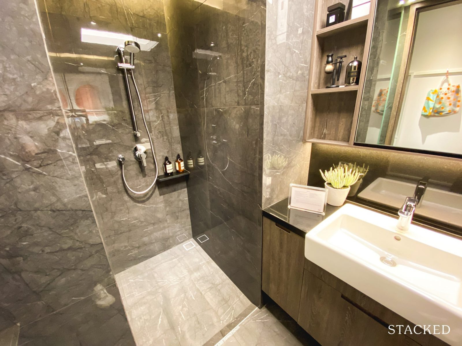 the m condo studio bathroom