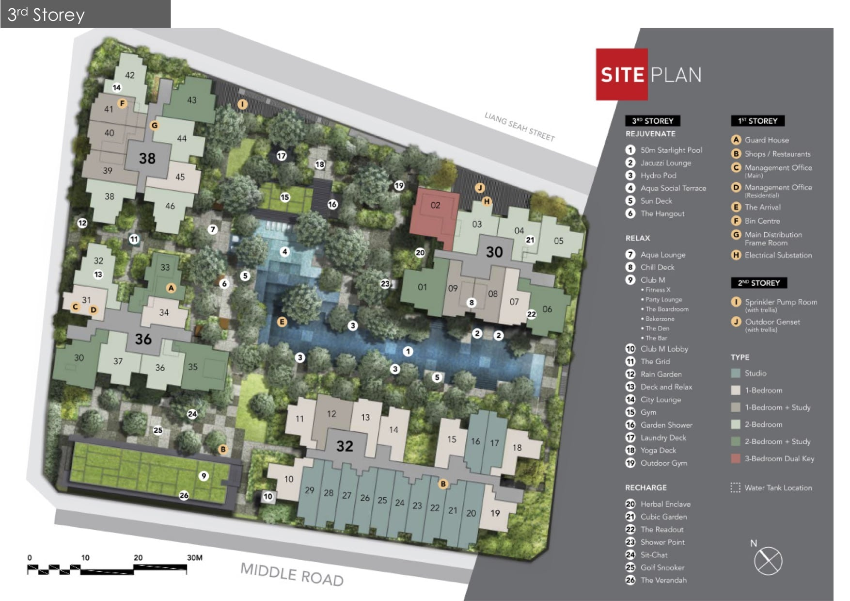 the m development site plan