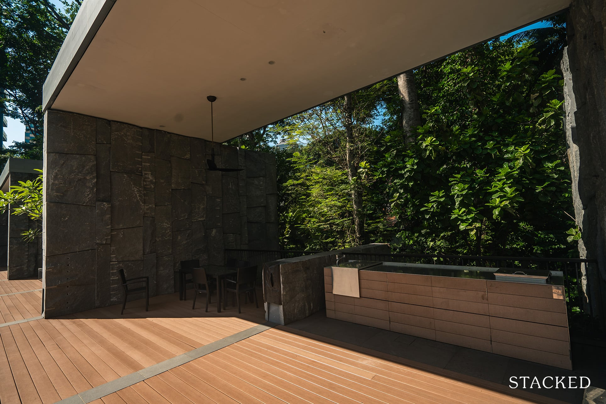 goodwood residence barbecue area