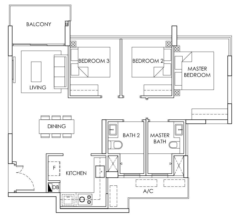 ola 3 bedroom floor plan