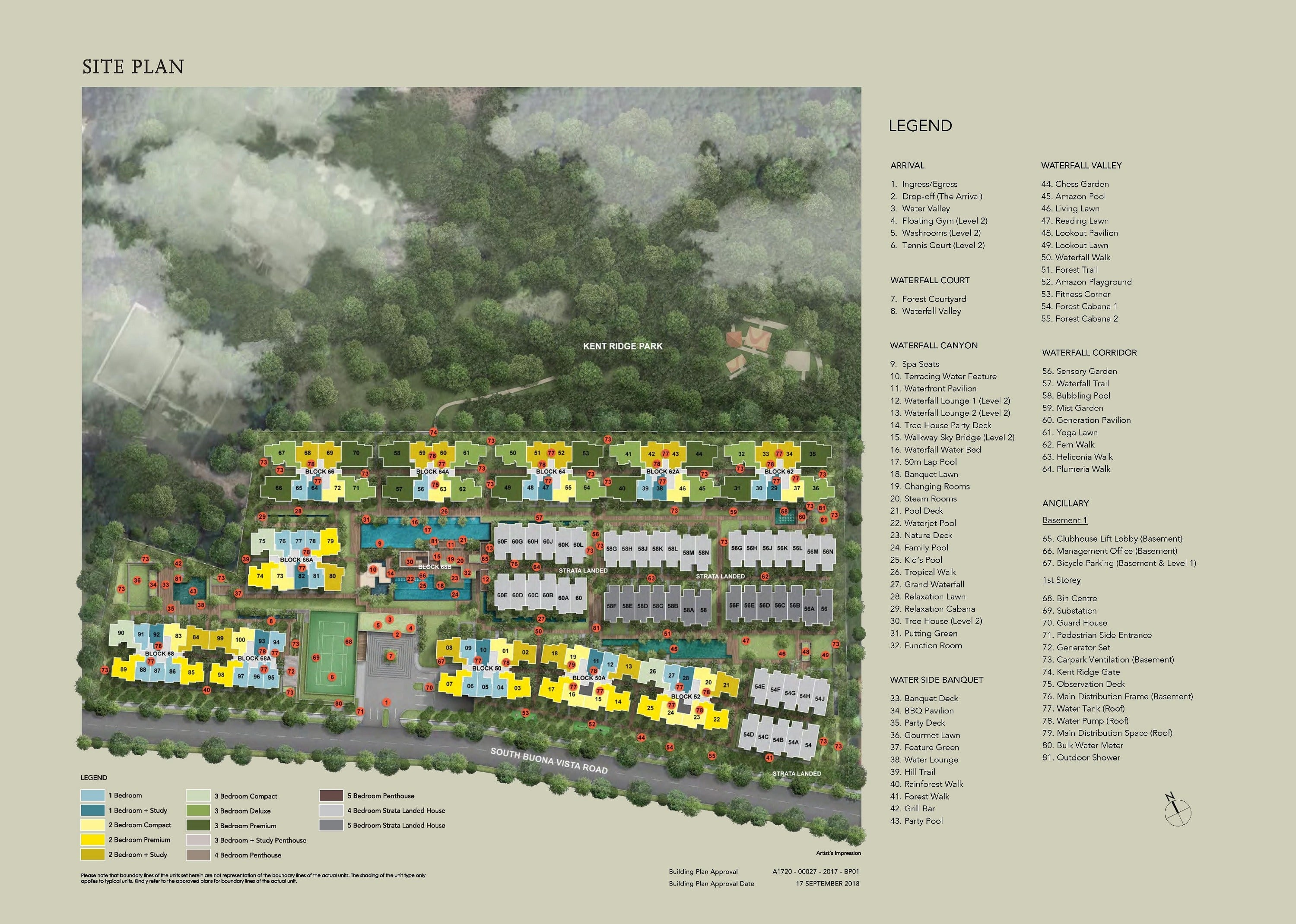 Kent Ridge Hill Residences sitemap
