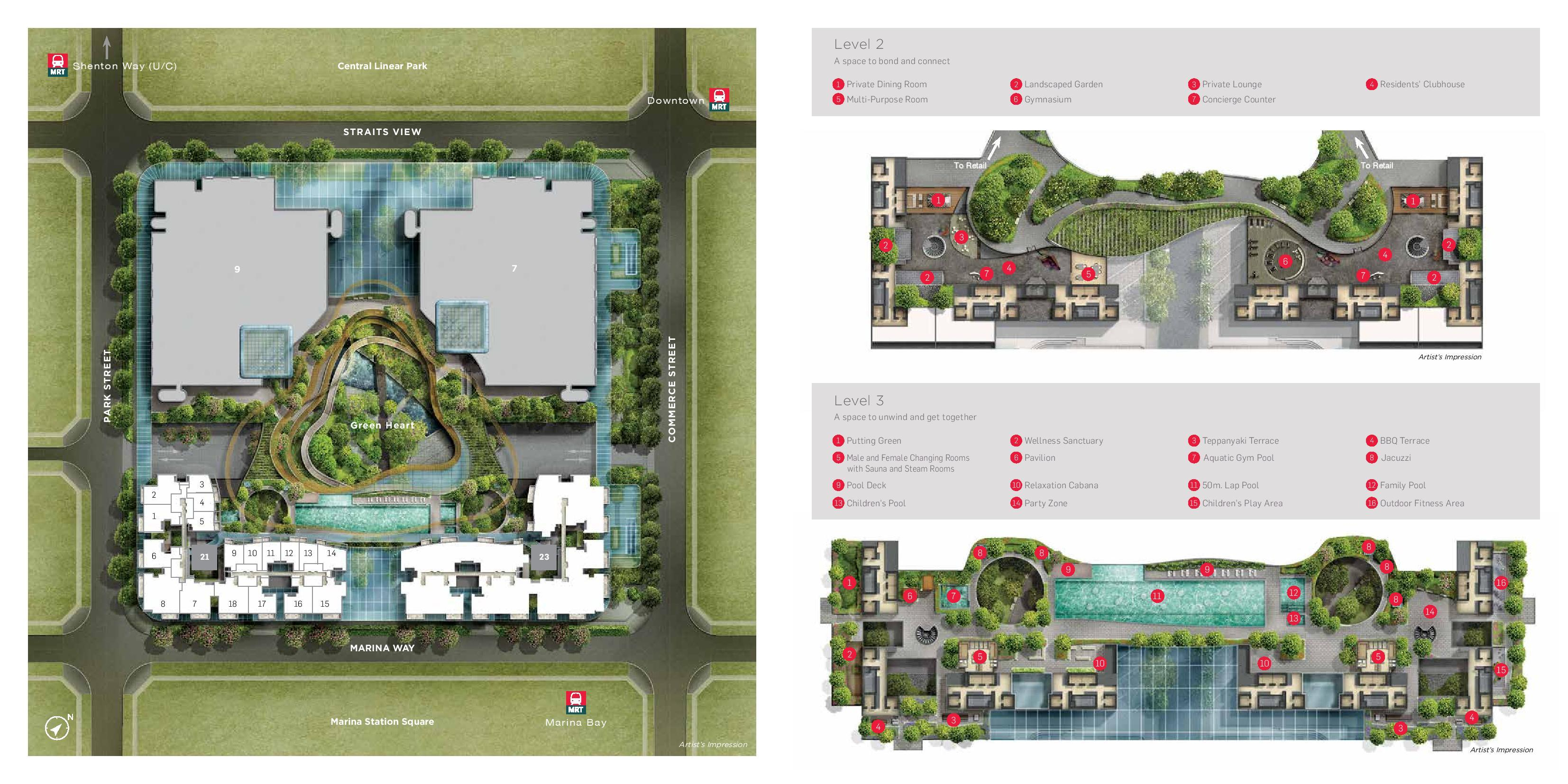 Marina One Residences sitemap