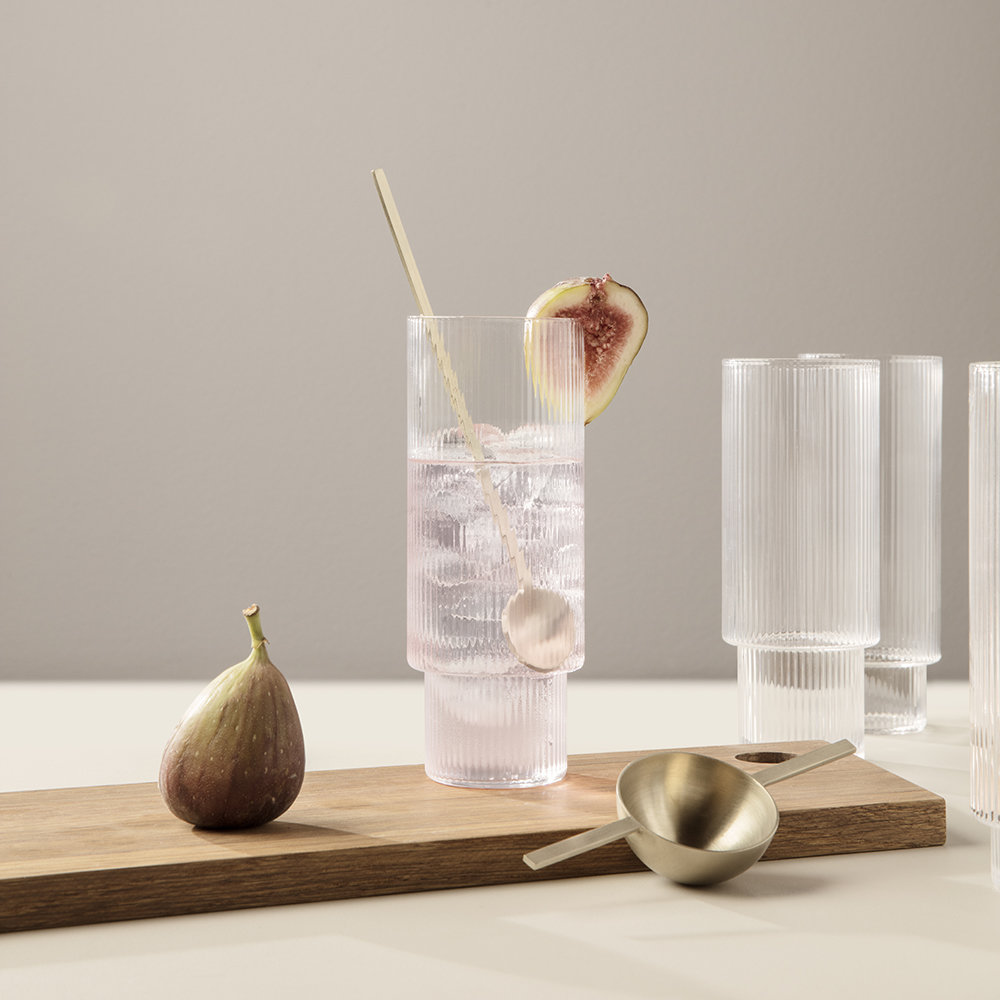 ripple long drinking glass