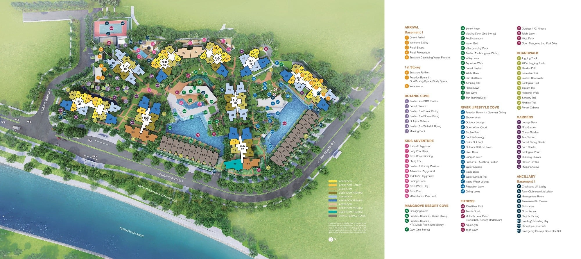 Riverfront Residences sitemap