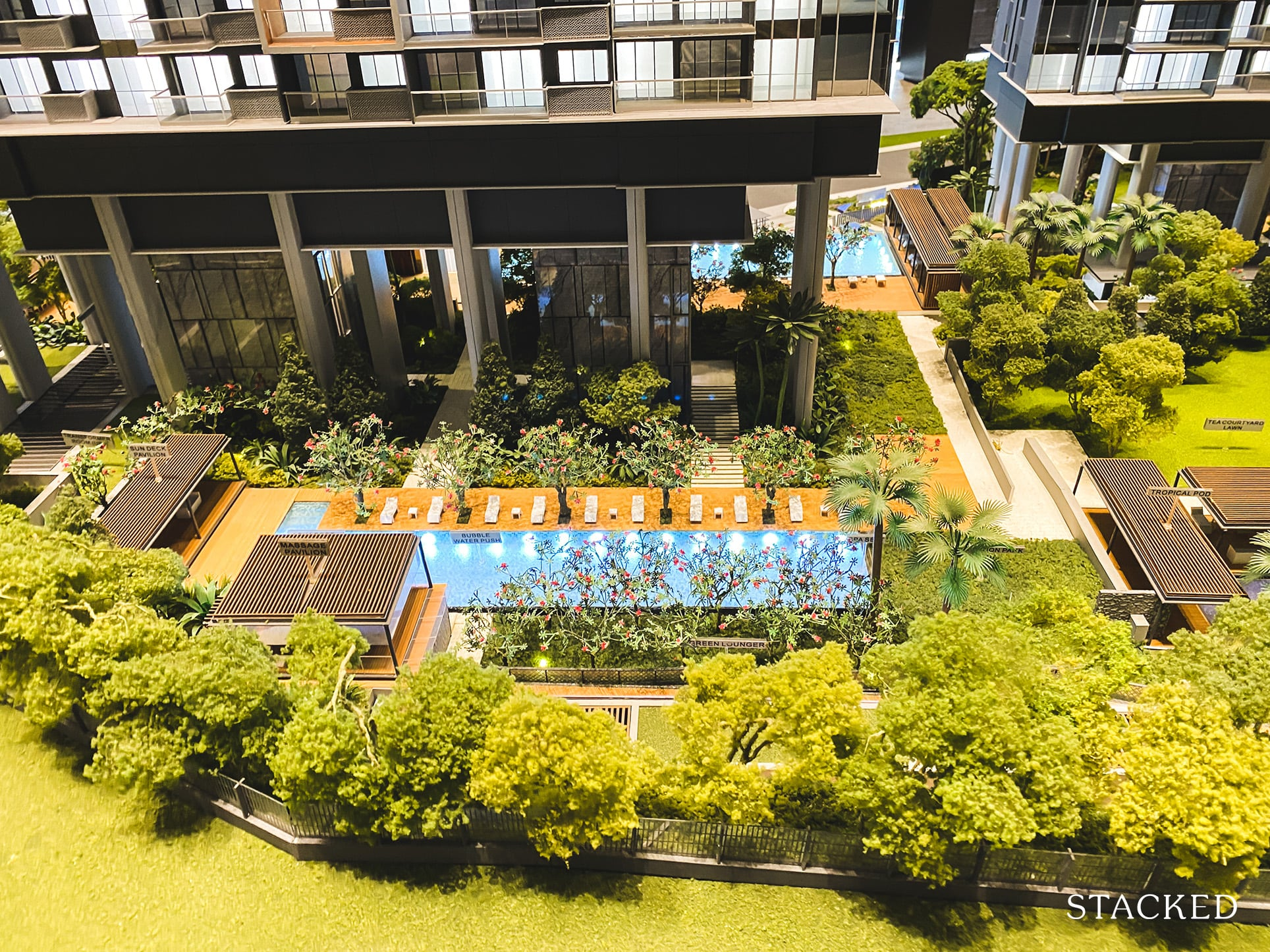 stirling residences pool view