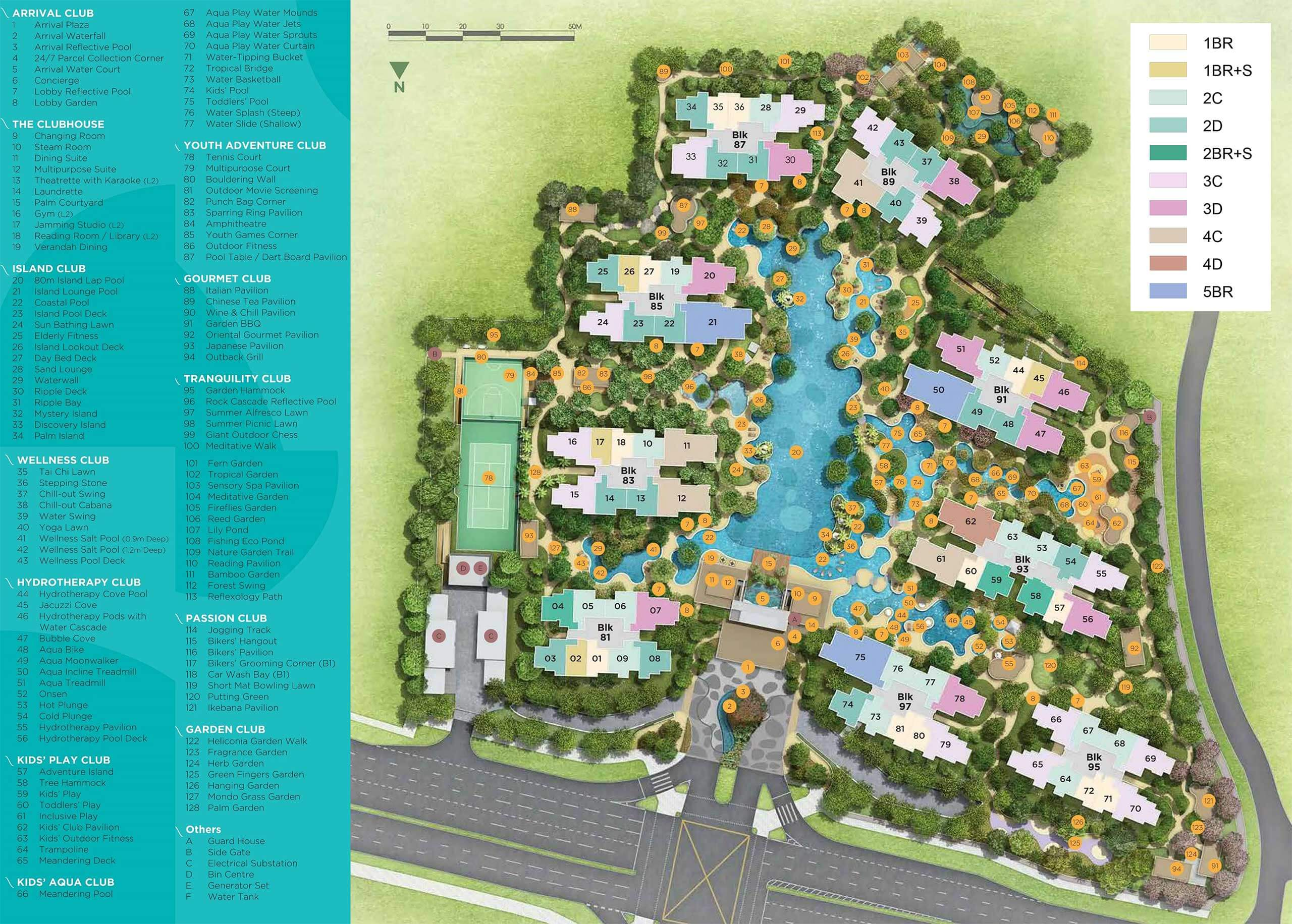 The Florence Residences sitemap