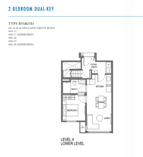 parksuites 2 bedroom dual key first level